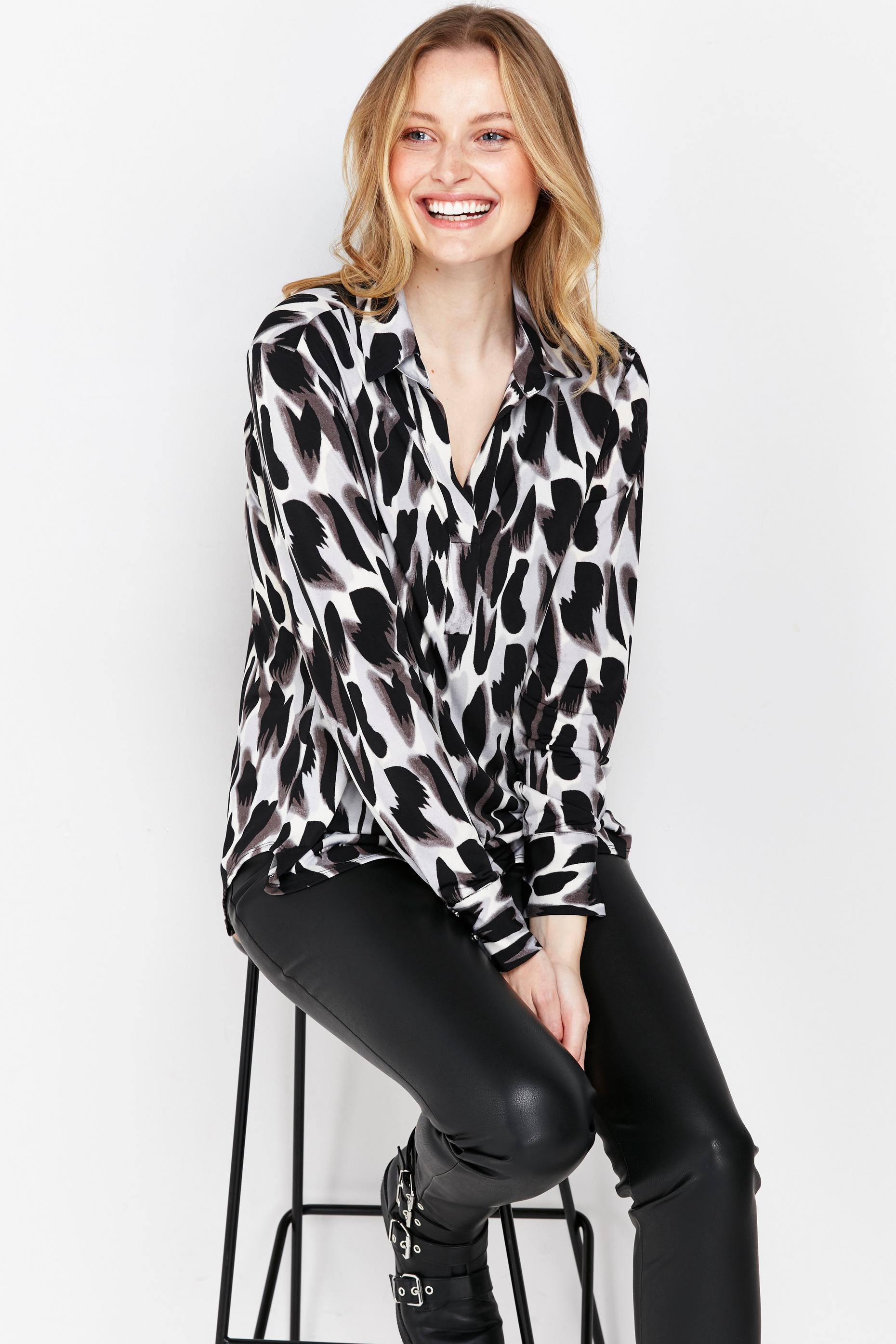 Monochrome Abstract Printed Shirt