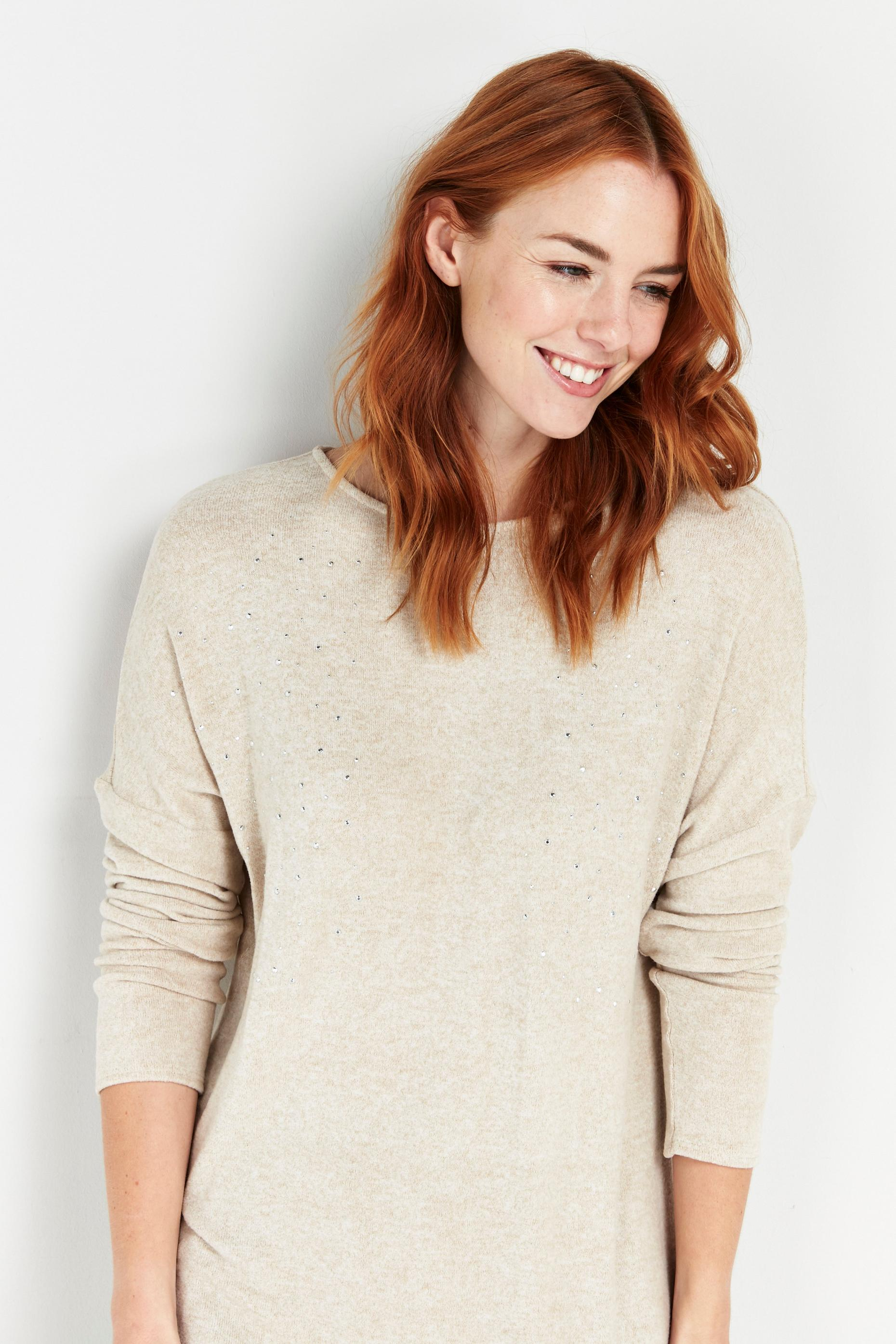 Stone Embellished Knitted Jumper