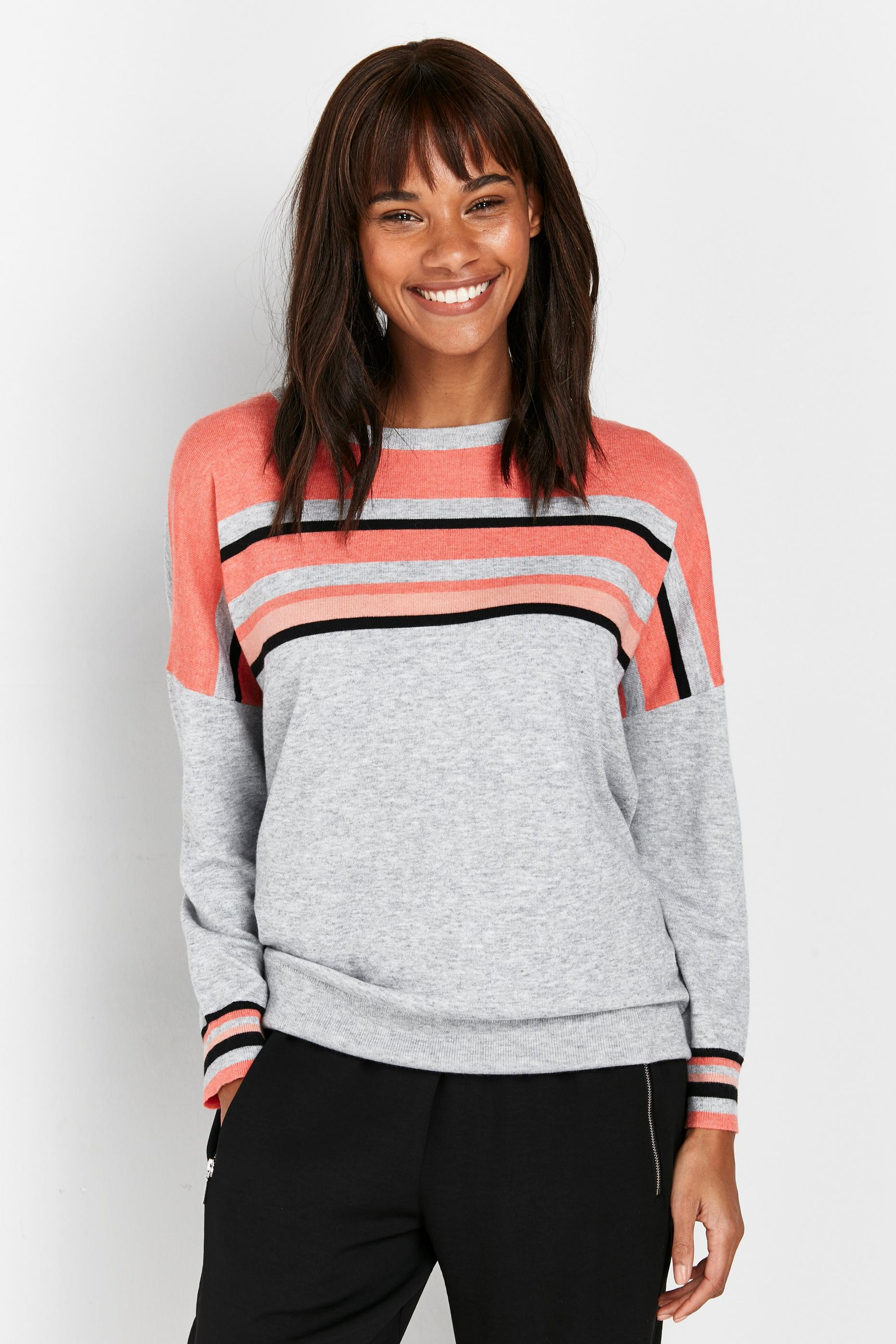 Grey Stripe Jumper