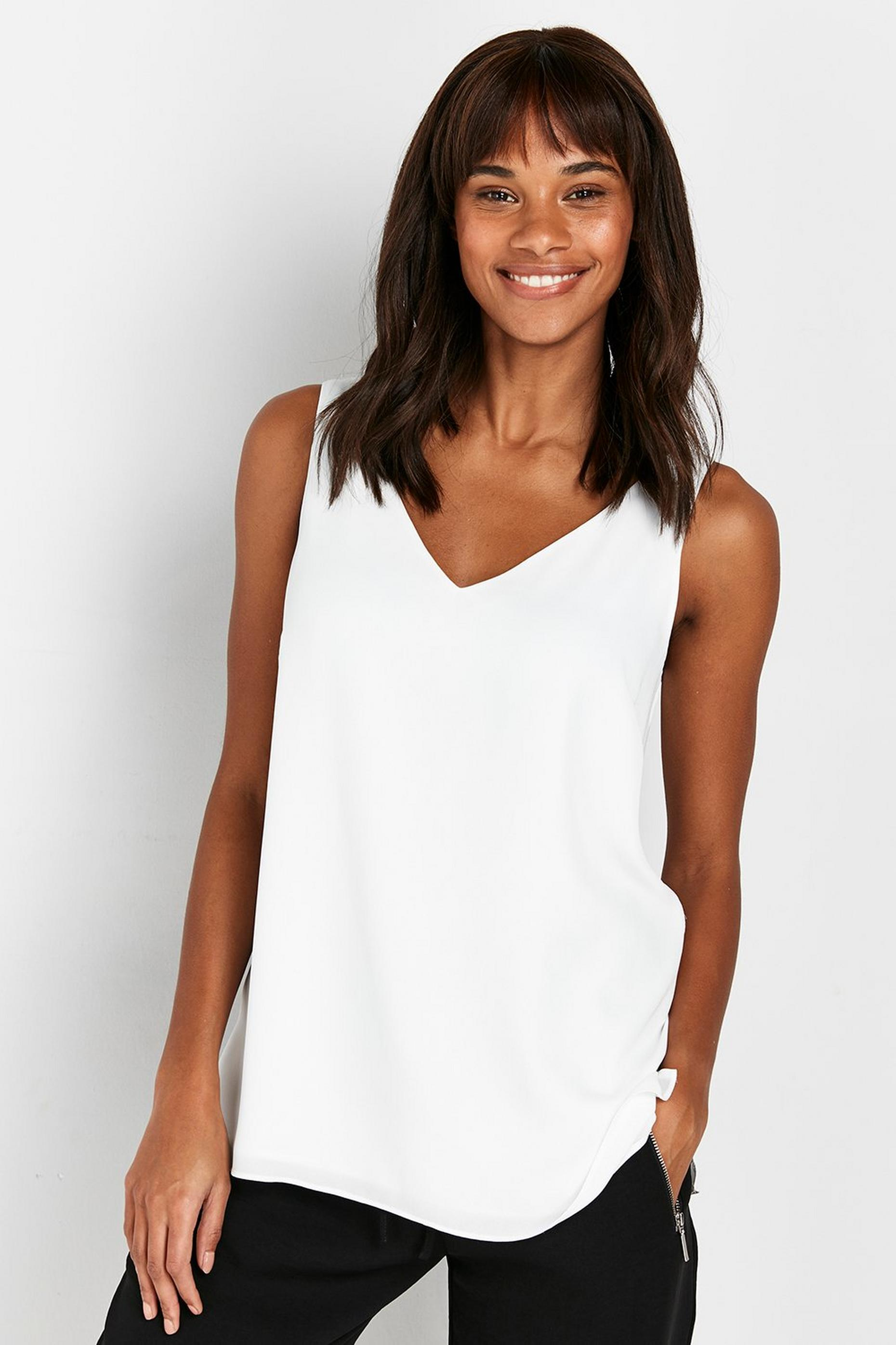 Ivory V -Neck Cami Top