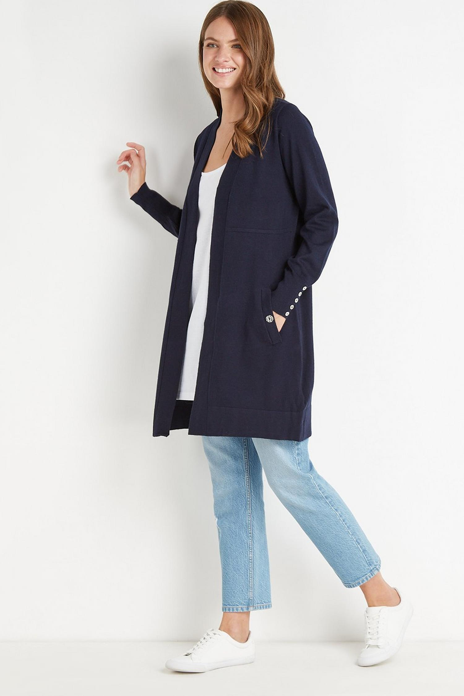 148 Navy Wool Blend Cardigan image number 1