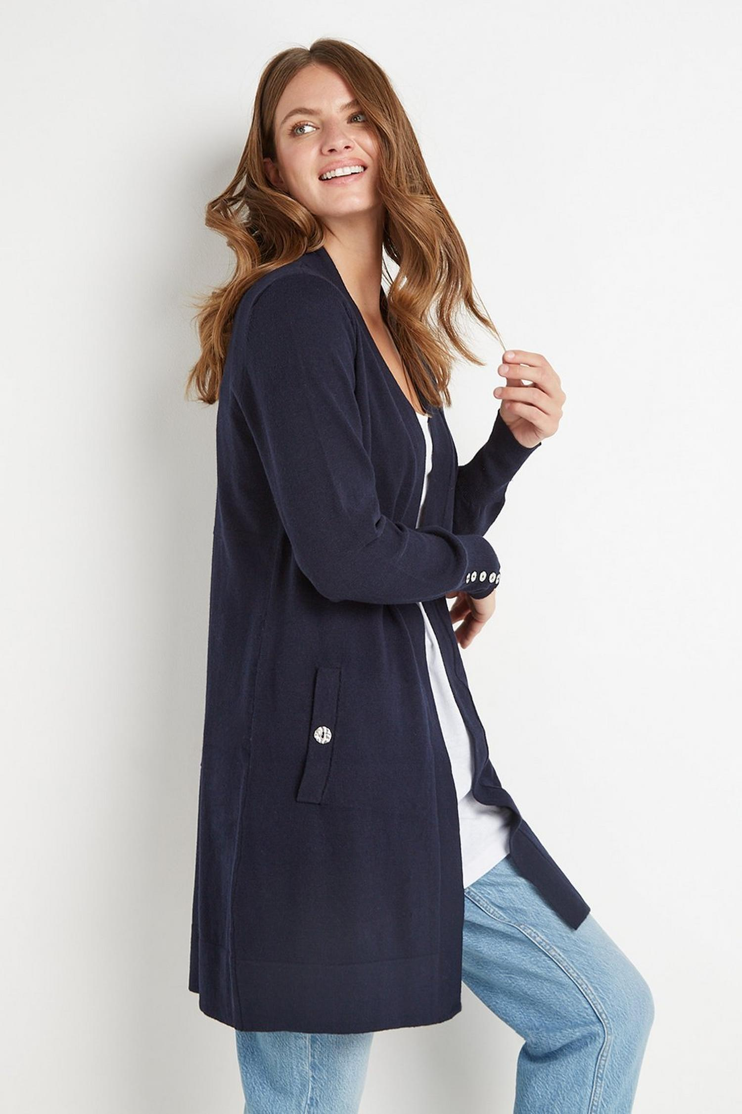 148 Navy Wool Blend Cardigan image number 2
