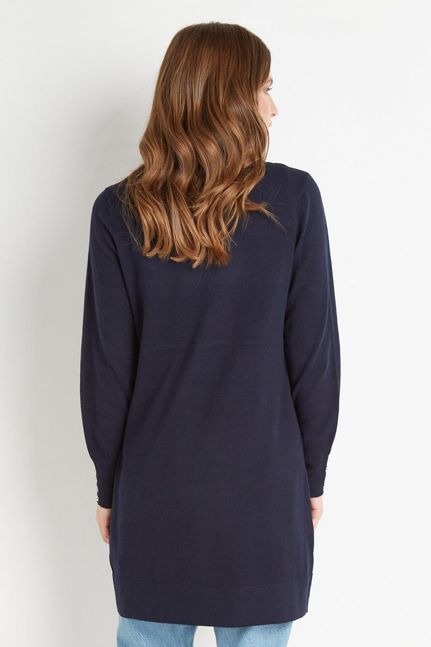 148 Navy Wool Blend Cardigan image number 3