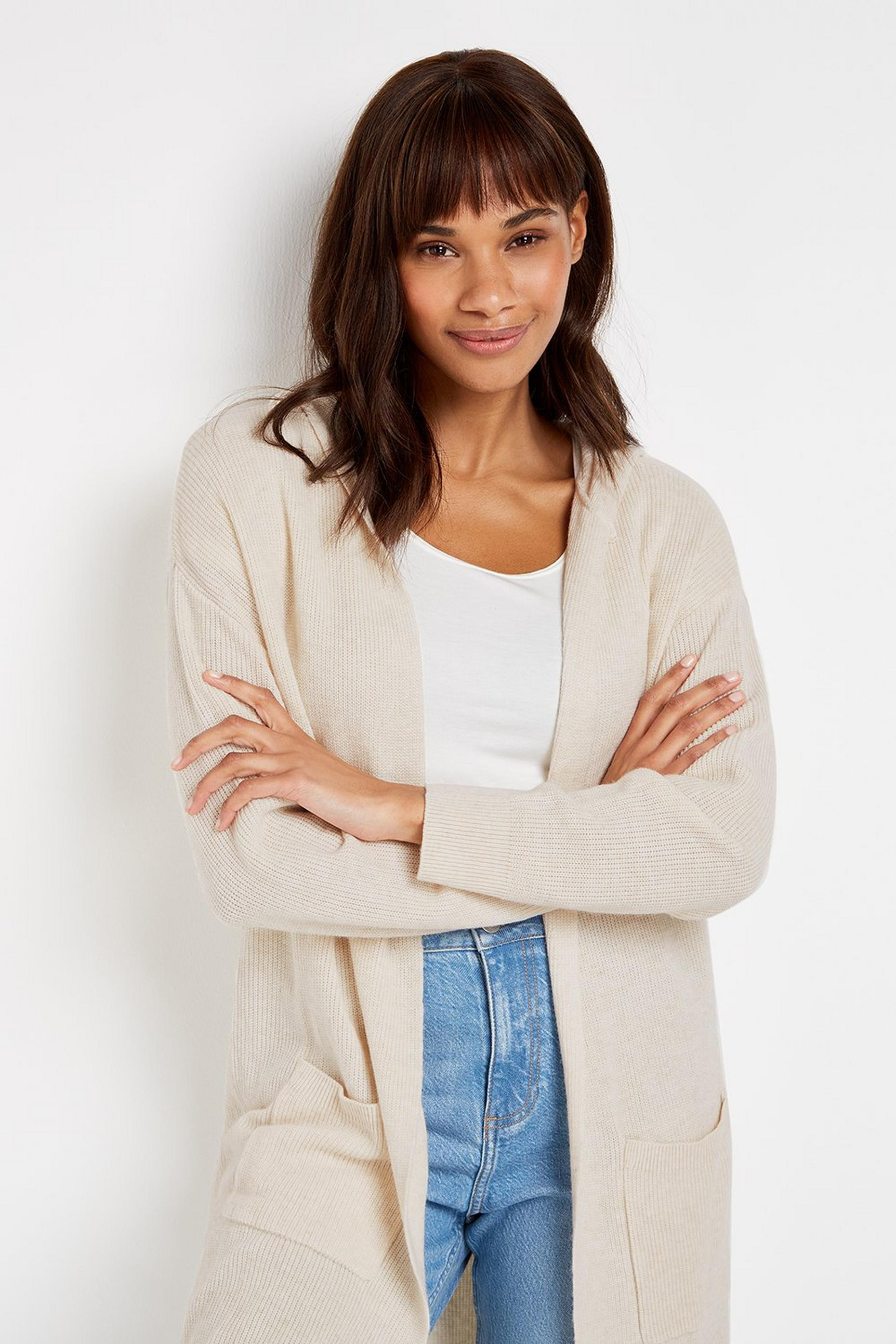 Ivory Hooded Cardigan