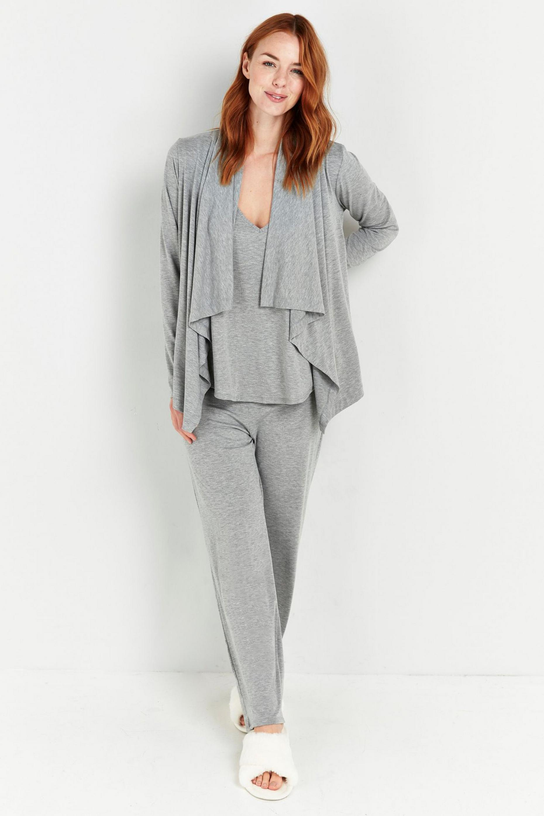 Grey Roll Top Jersey Trouser