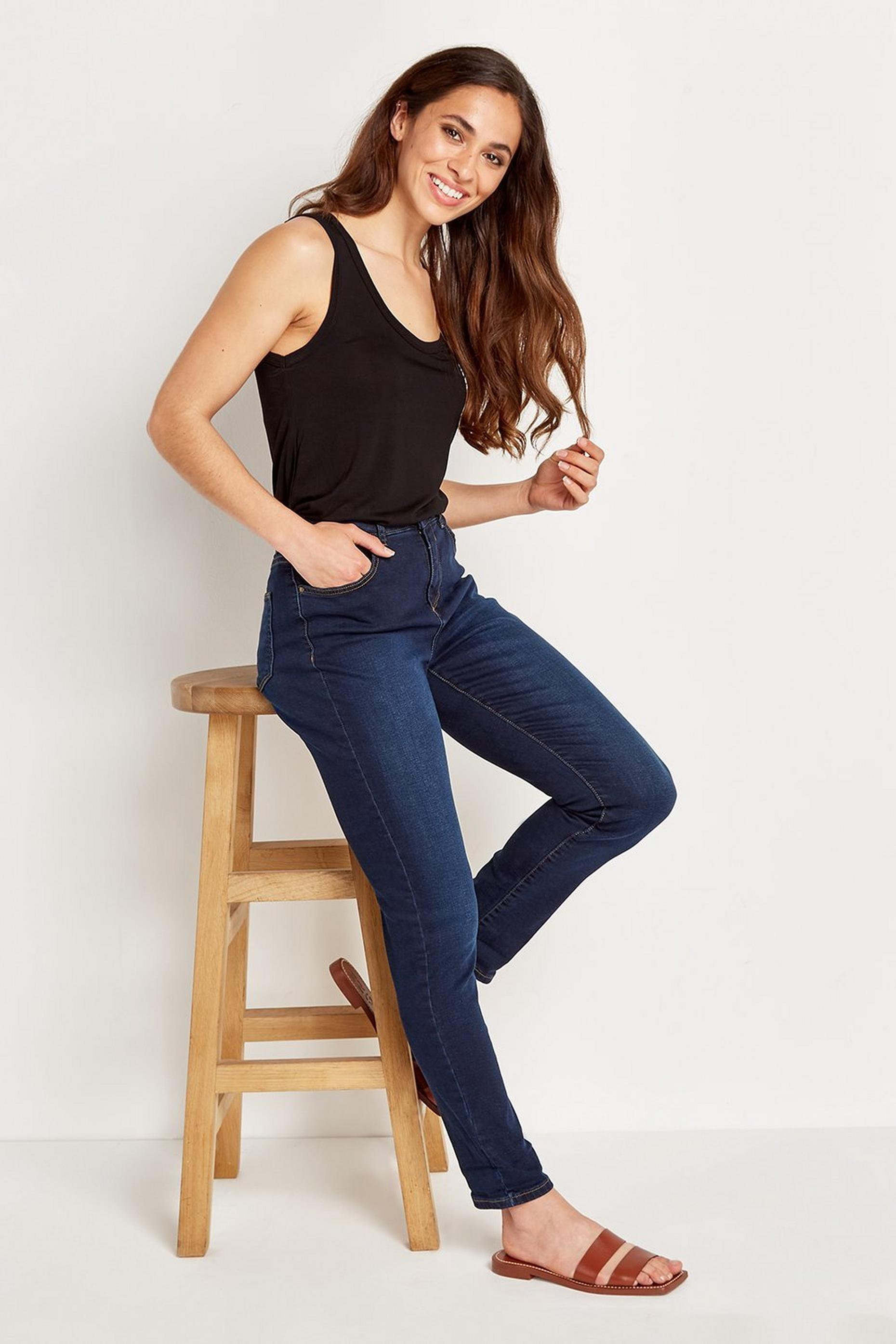 Indigo Denim Roll Up Jean