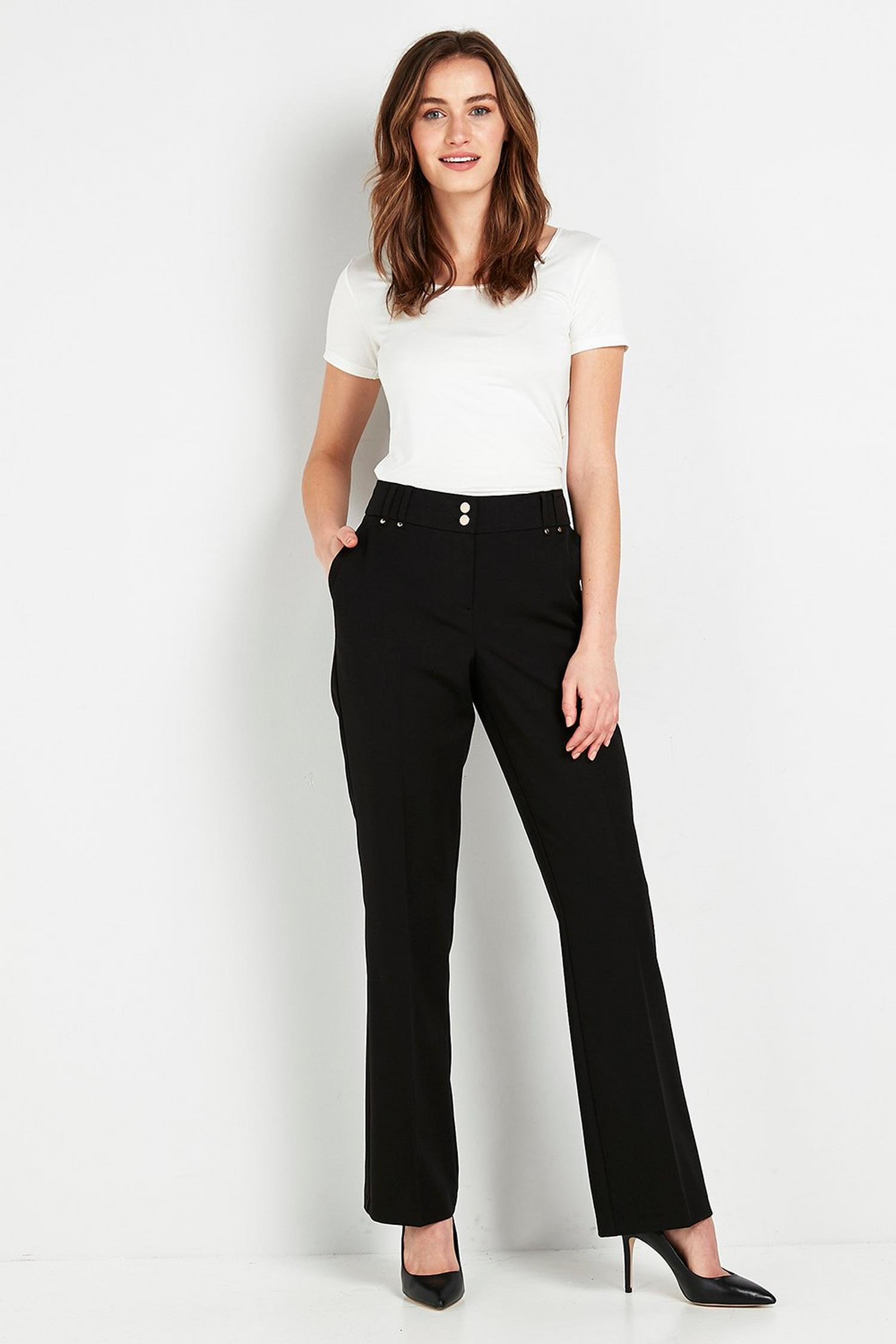 105 Black Bootcut Trousers image number 3