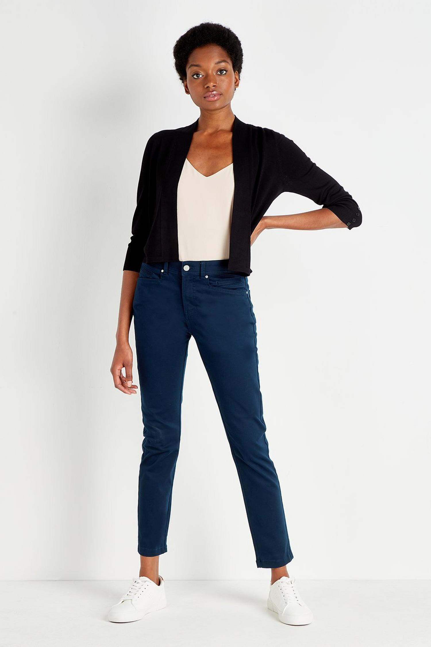 148 Navy Slim Leg Trousers image number 1