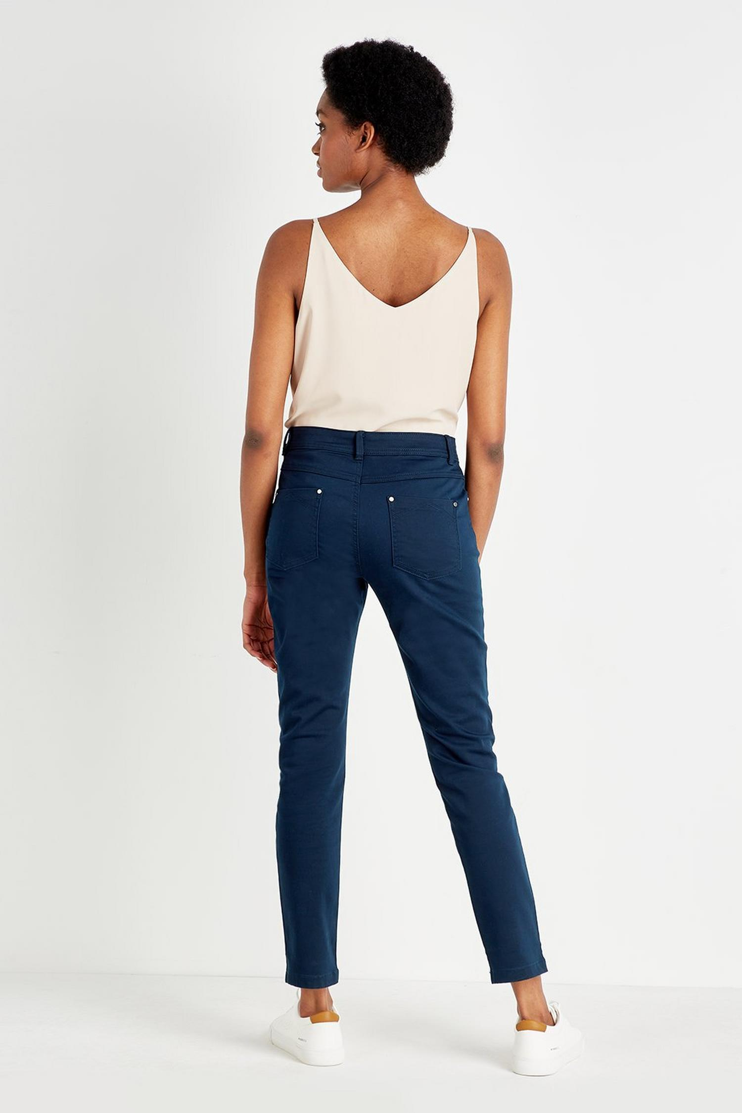 148 Navy Slim Leg Trousers image number 3