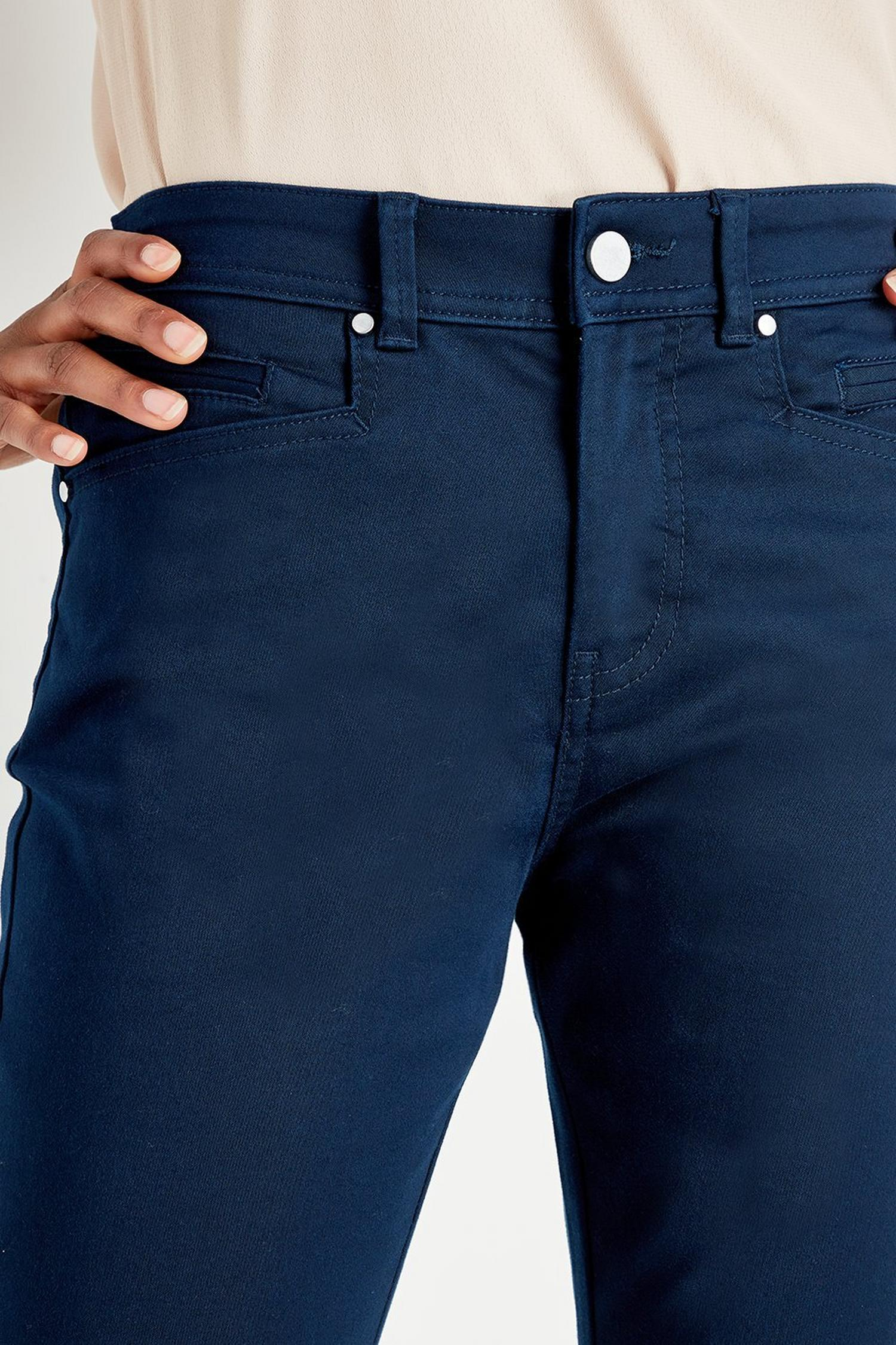 148 Navy Slim Leg Trousers image number 4