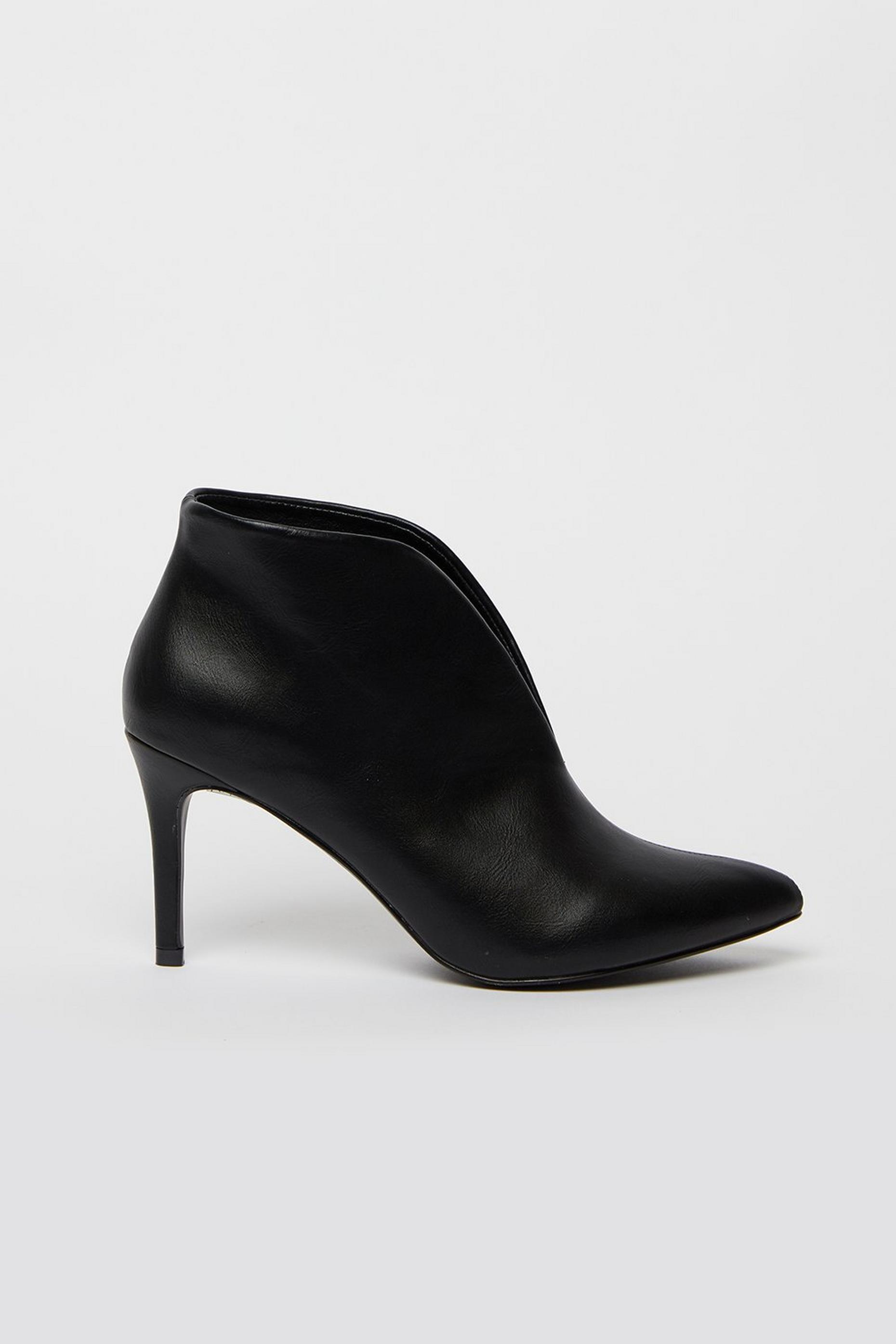 Black High Heel Shoe Boot