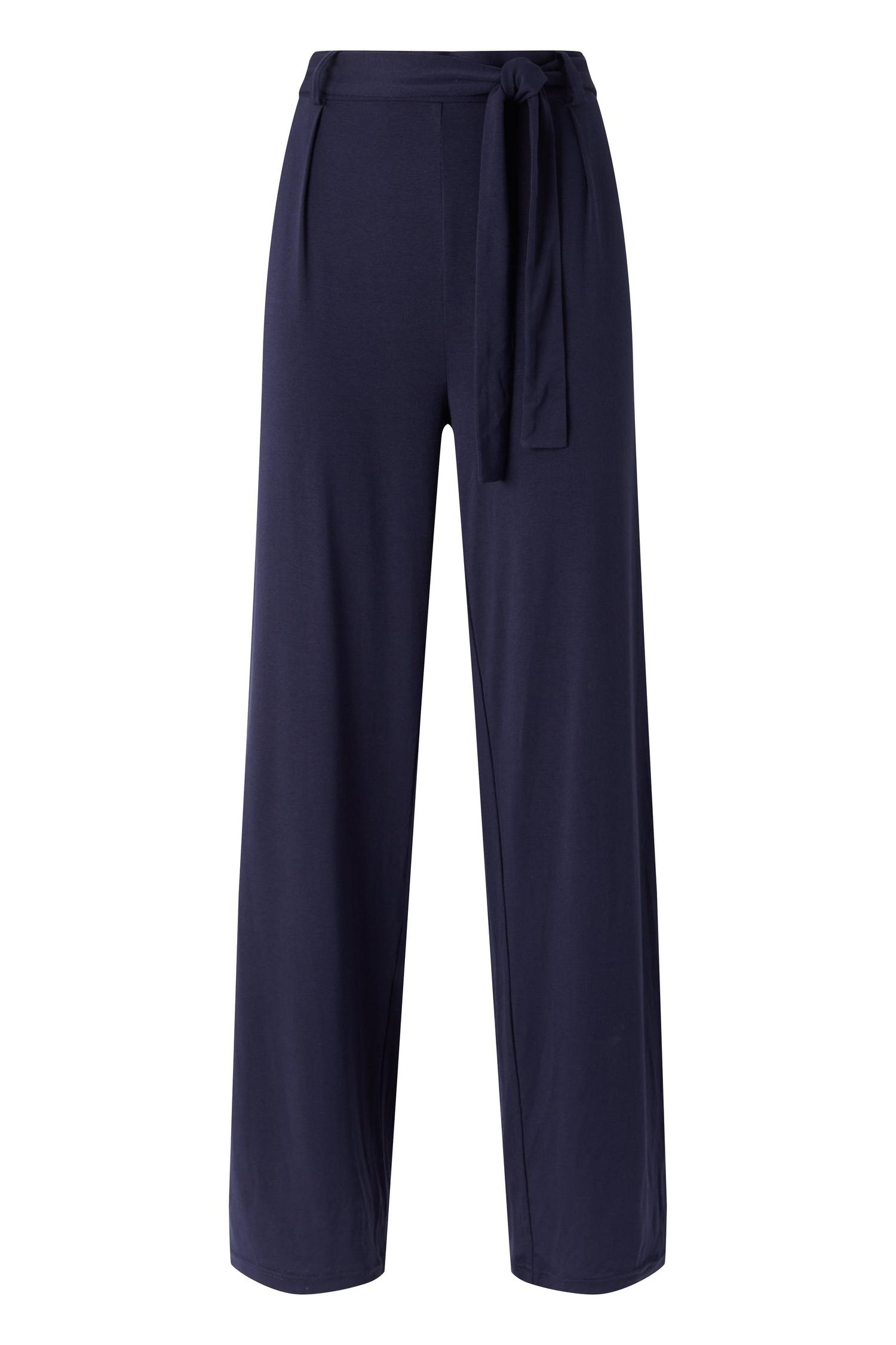 148 Navy Jersey Wide Leg Trouser image number 4