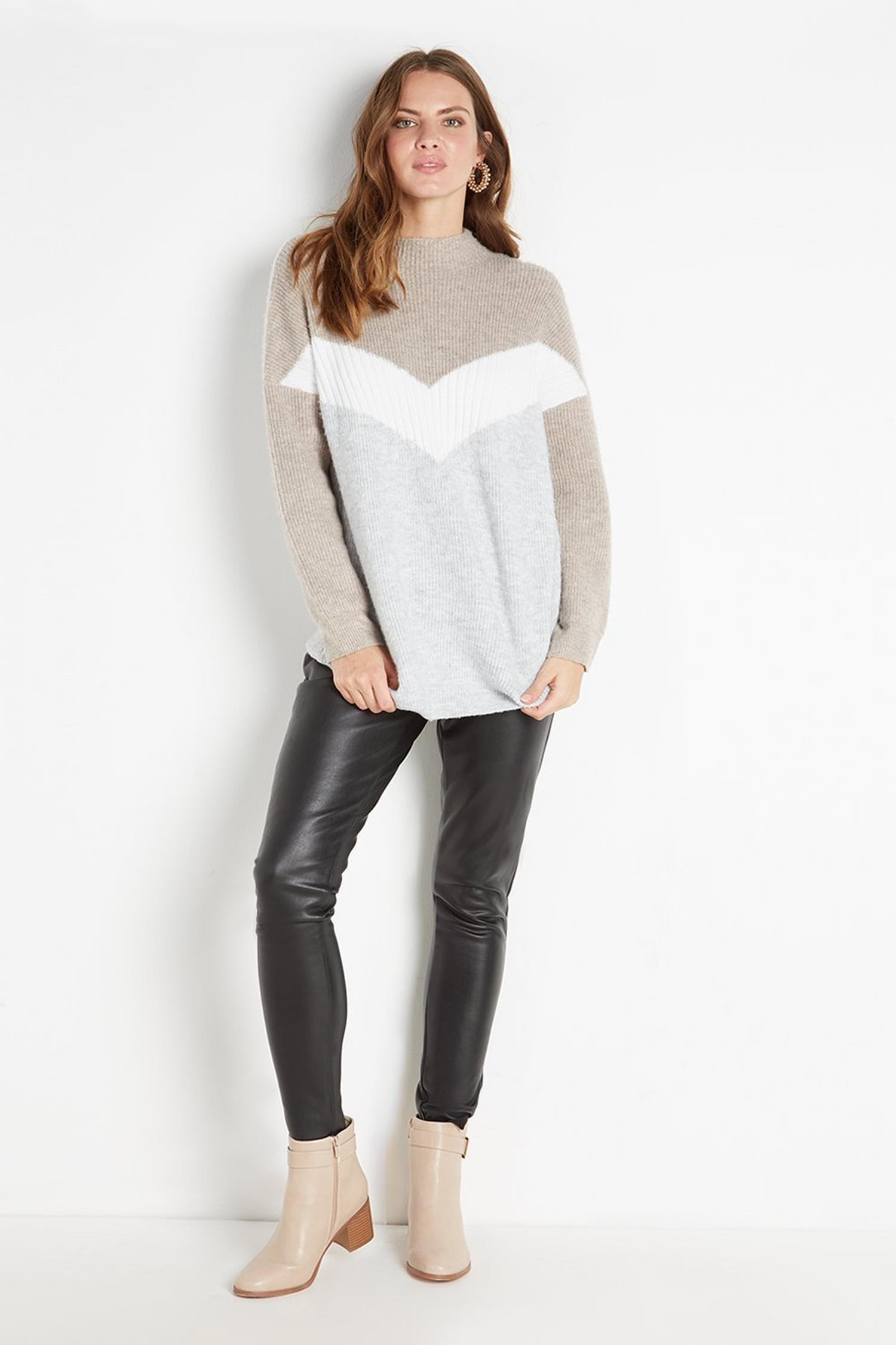 105 Black Faux-Leather Legging image number 1