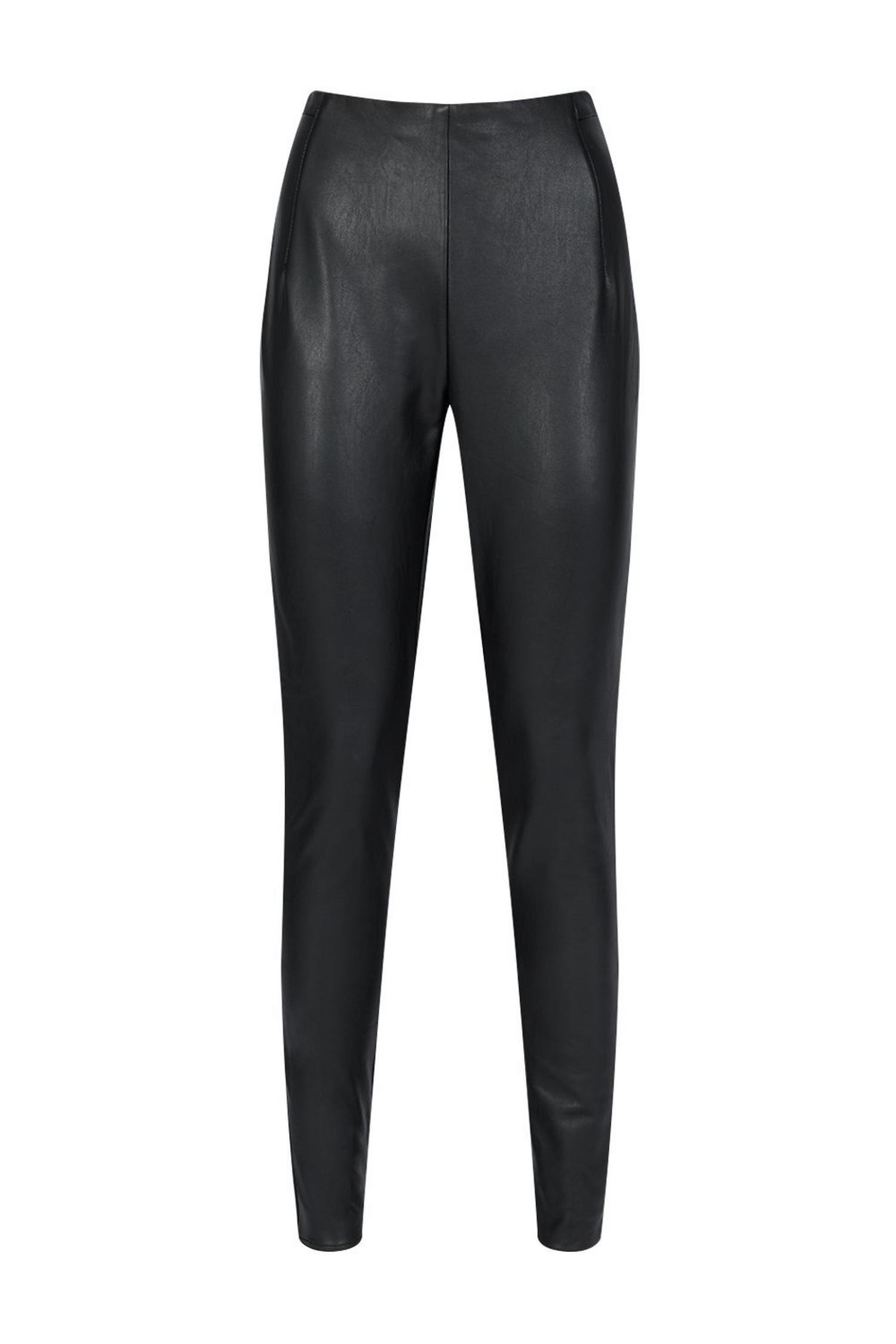 105 Black Faux-Leather Legging image number 4