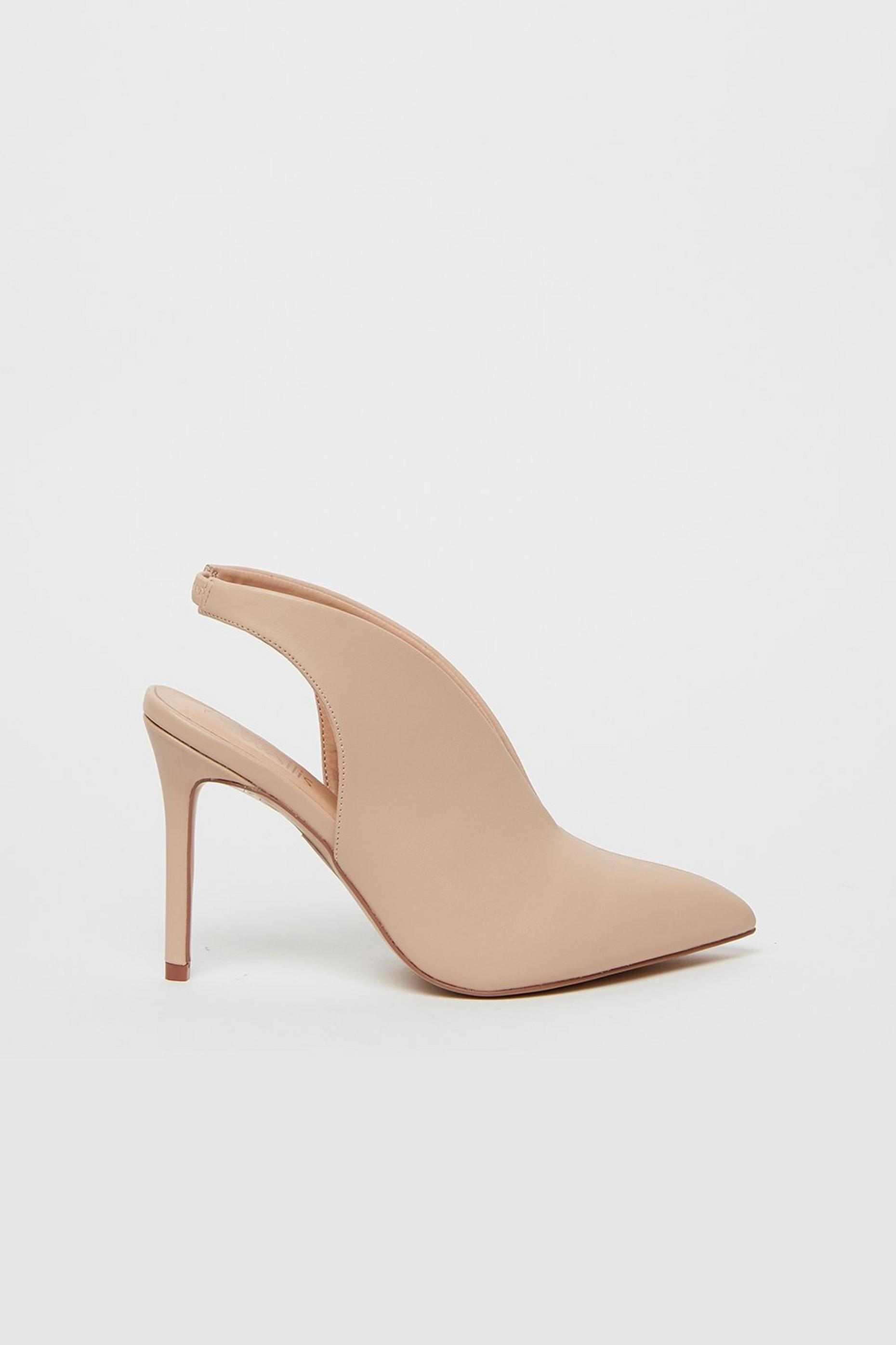 Nude Slingback Shoe Boot