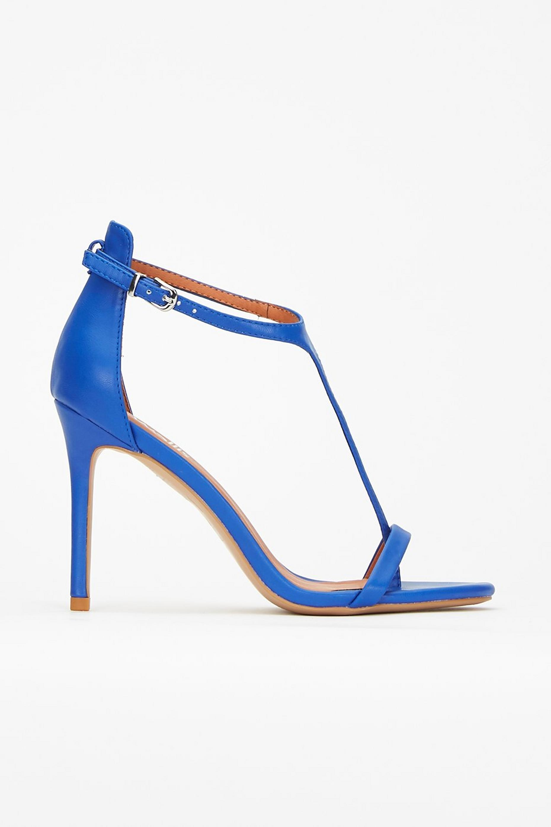 Blue T-Bar Barely There Sandal