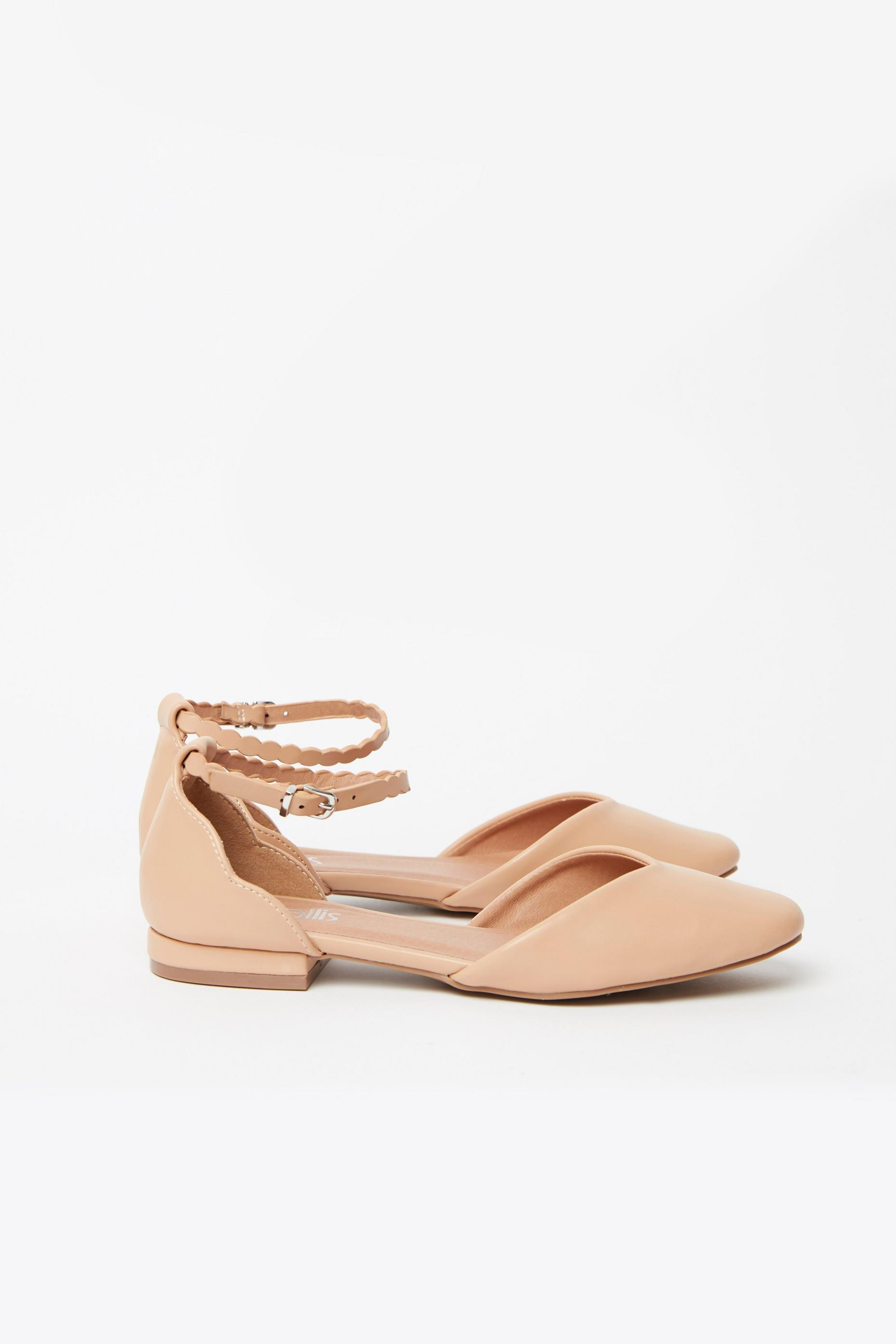 Nude Ankle Strap Shoe