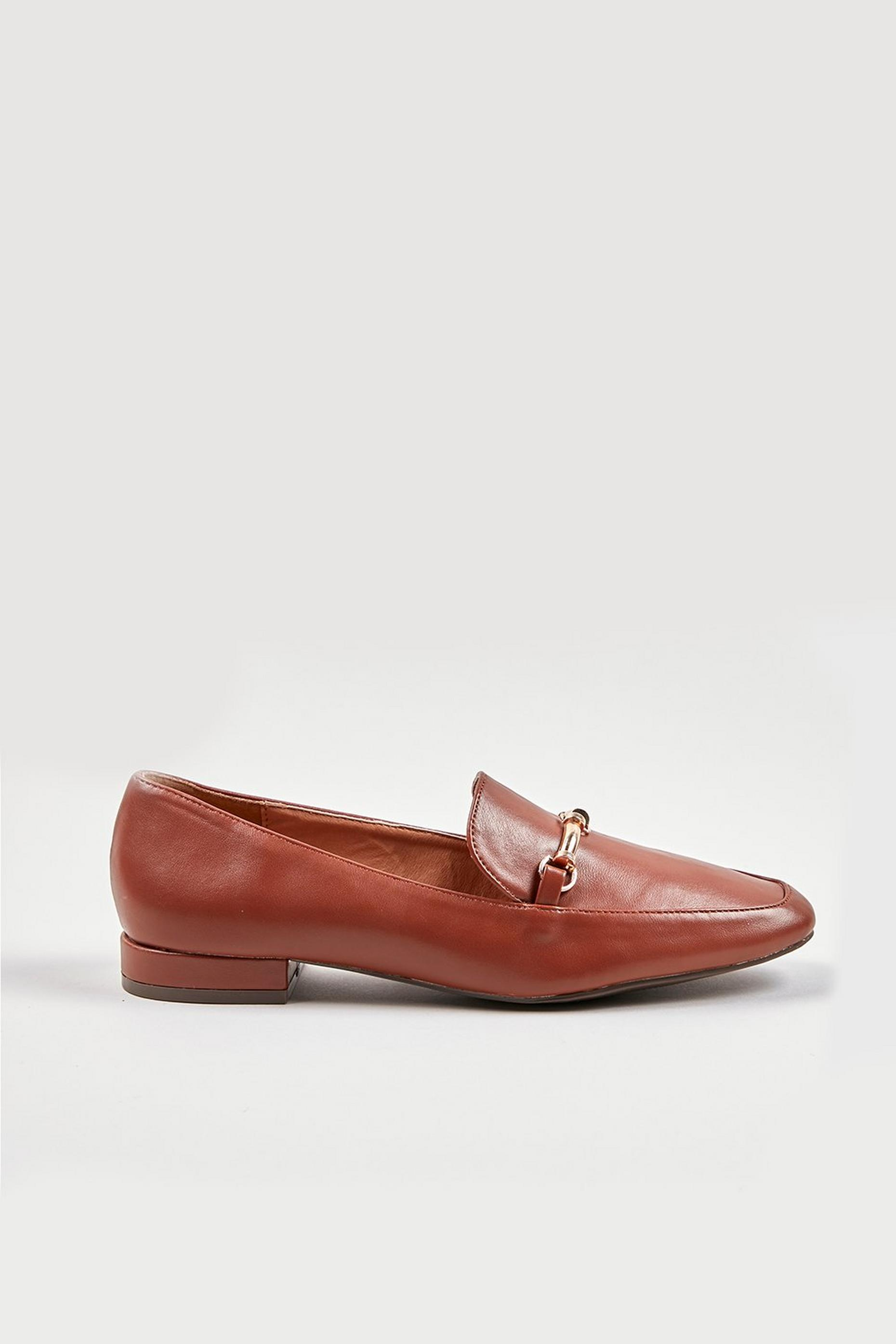 Brown Soft Square Trim Loafer