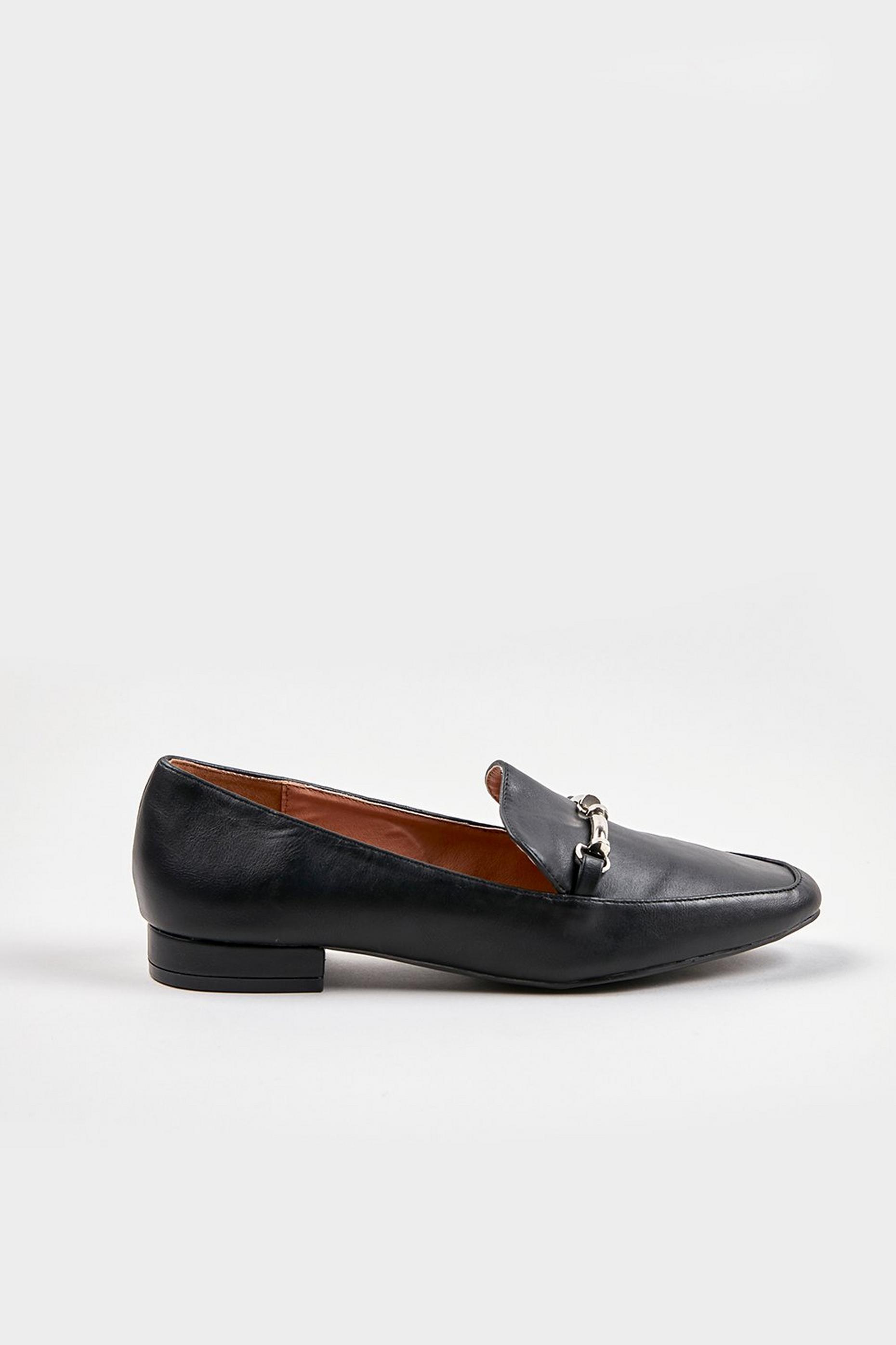 Black Soft Square Trim Loafers