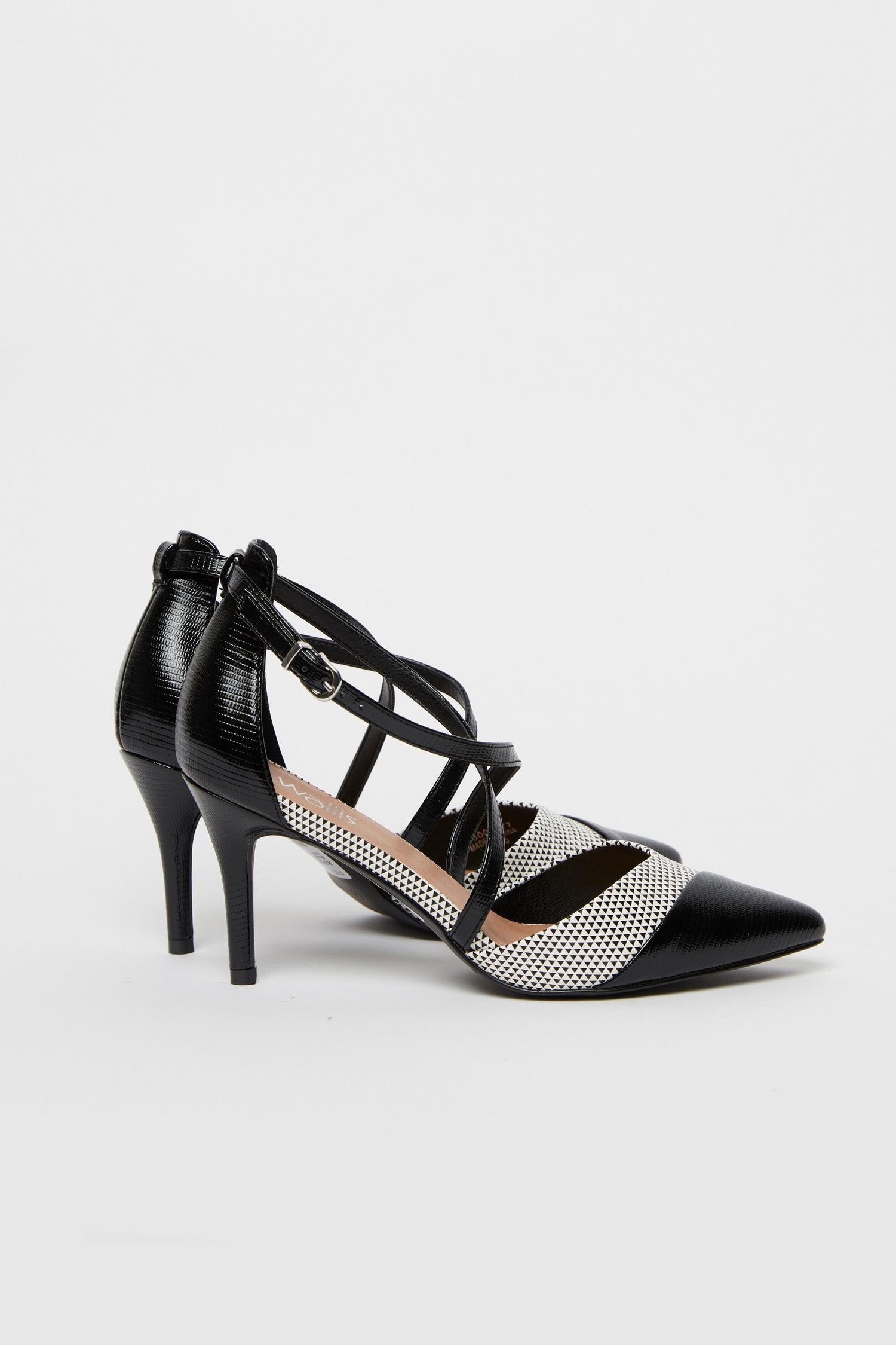 585 Monochrome Cross Strap Heels image number 1