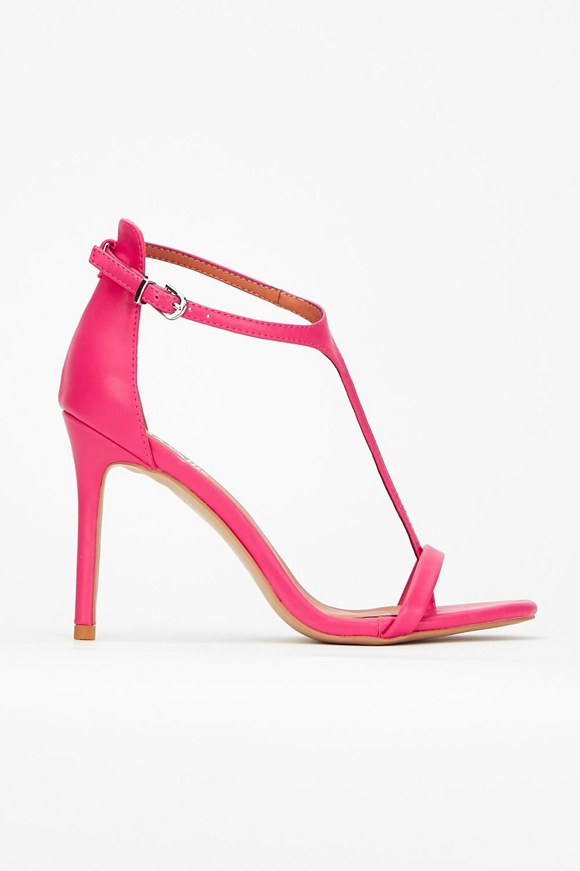 Pink T-Bar Barely There Sandal
