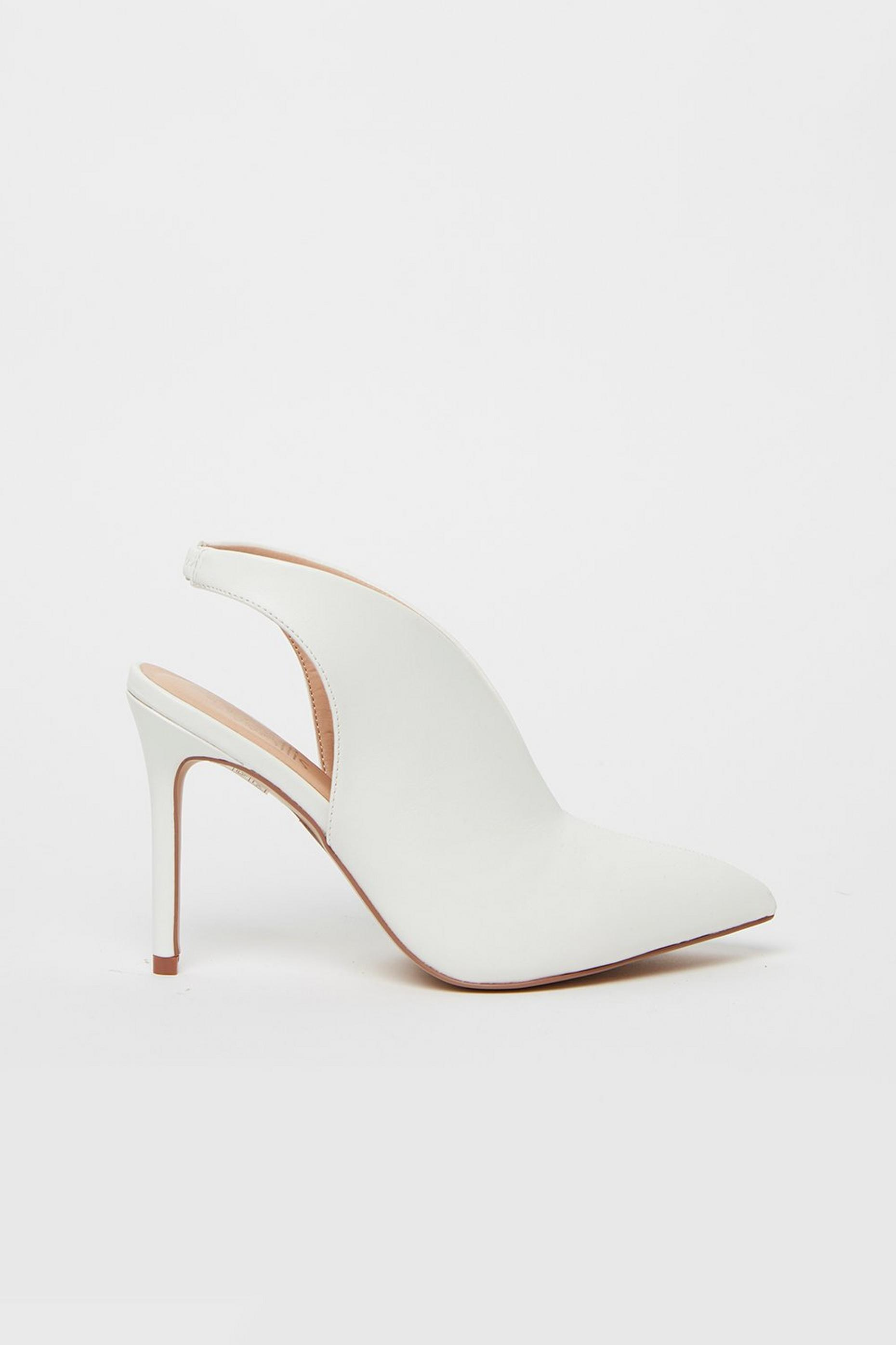 White Slingback Shoe Boot