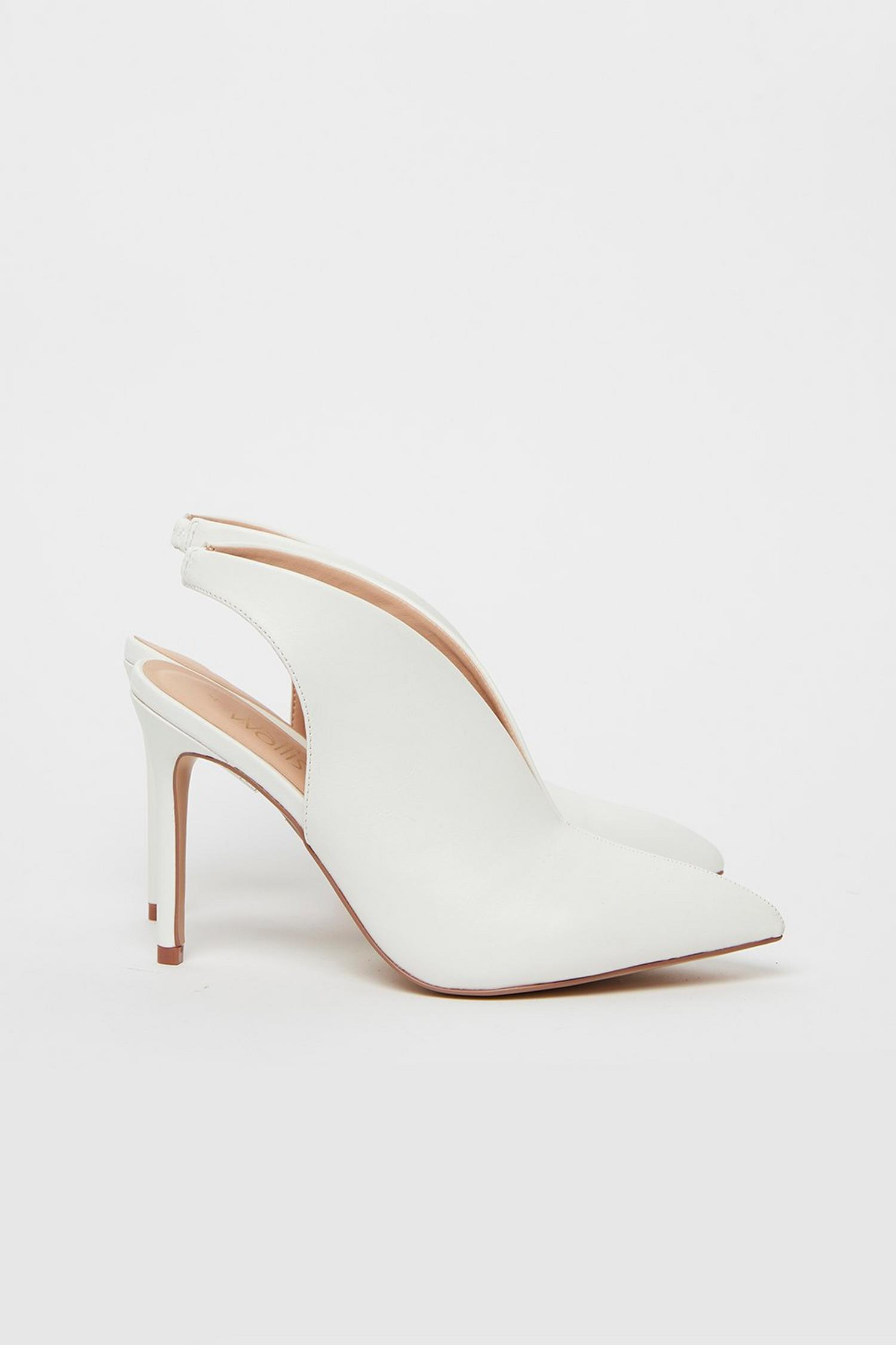 173 White Slingback Shoe Boot image number 2