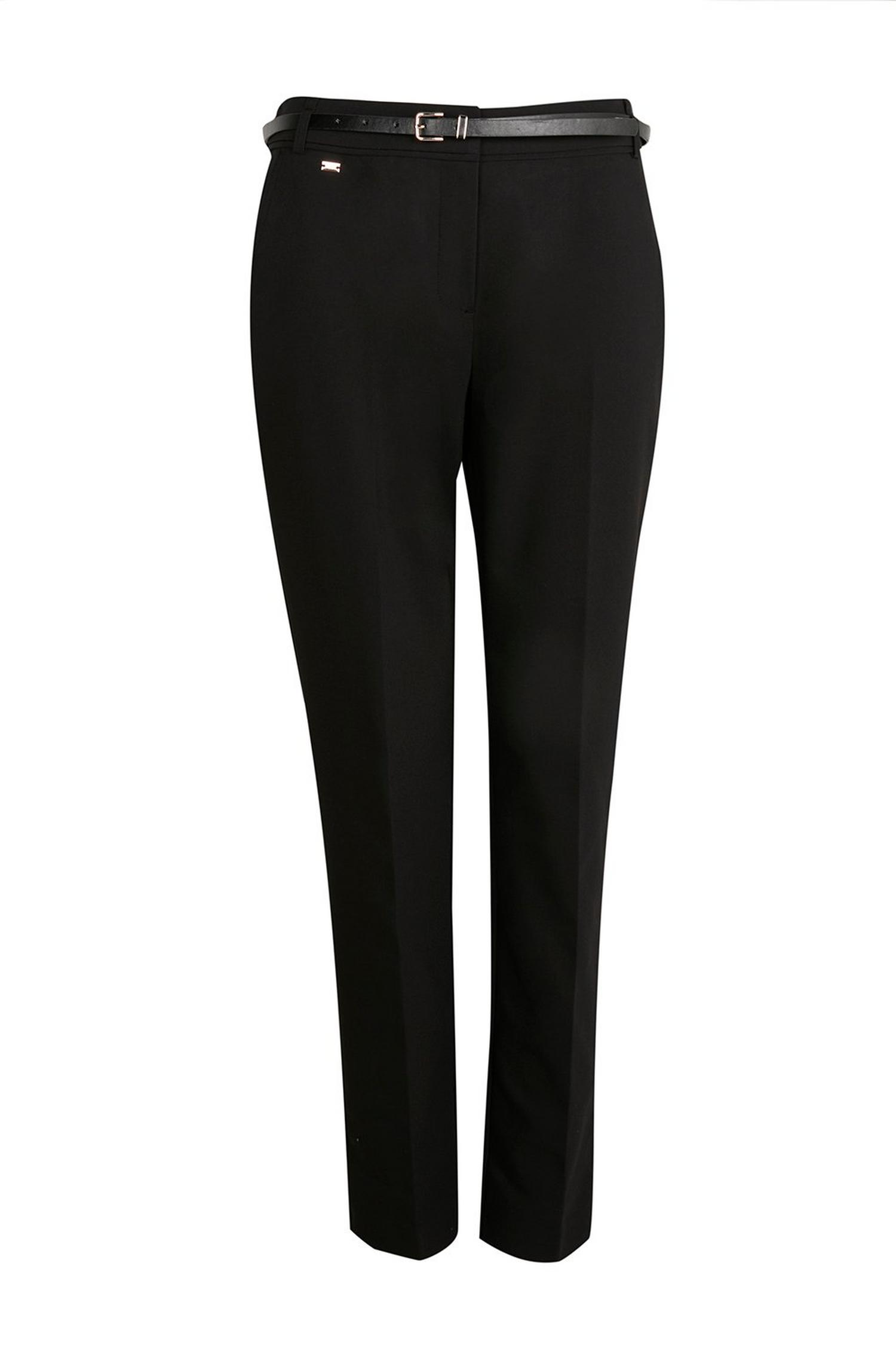 105 PETITE Black Belted Cigarette Trouser image number 1