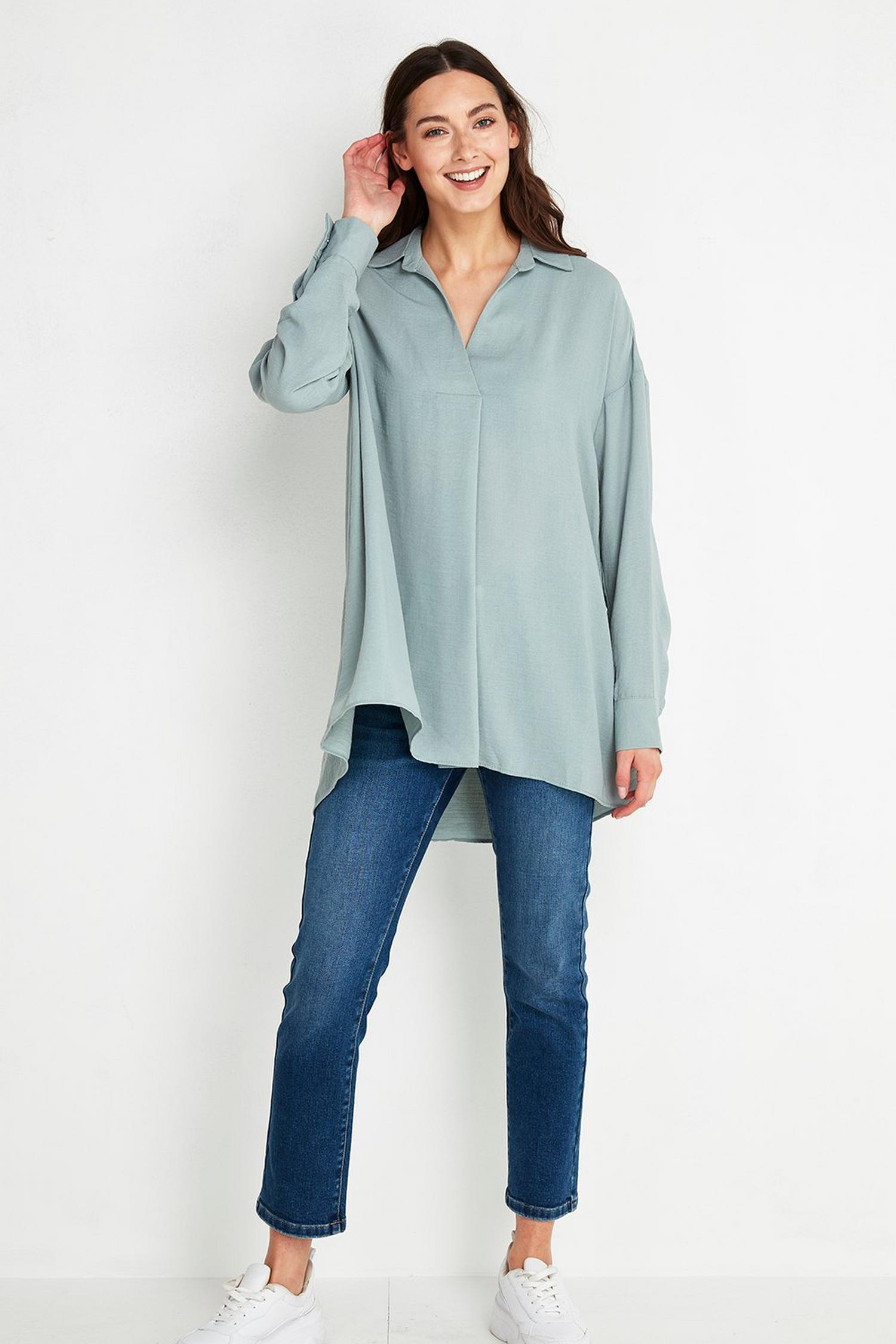 106 TALL Blue Shirt image number 3