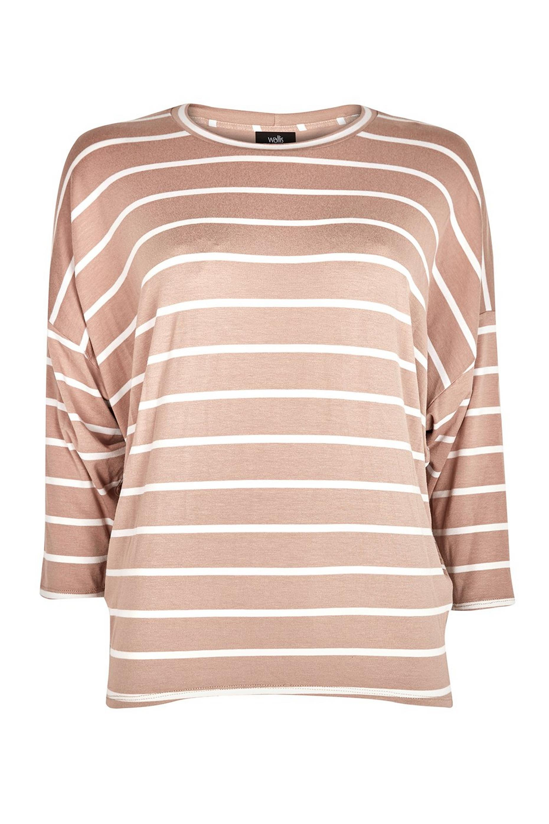 TALL Taupe Stripe Batwing Top