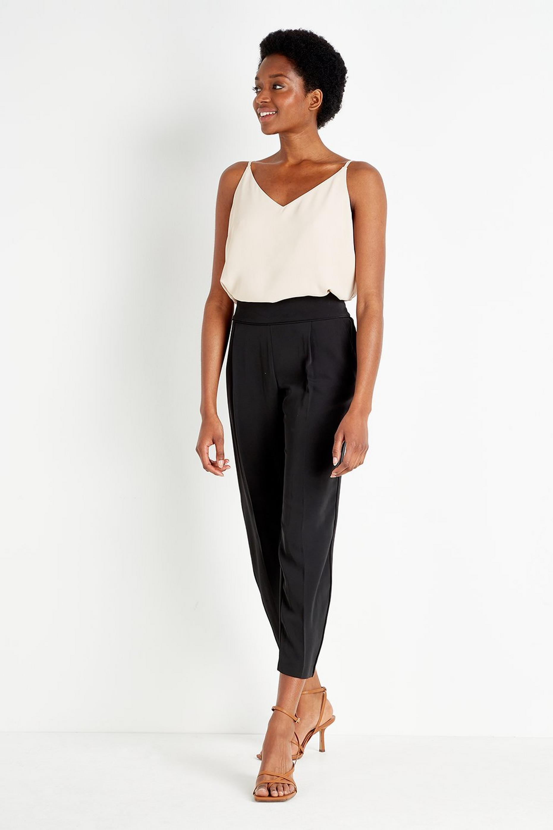 PETITE Black Pull On Trouser
