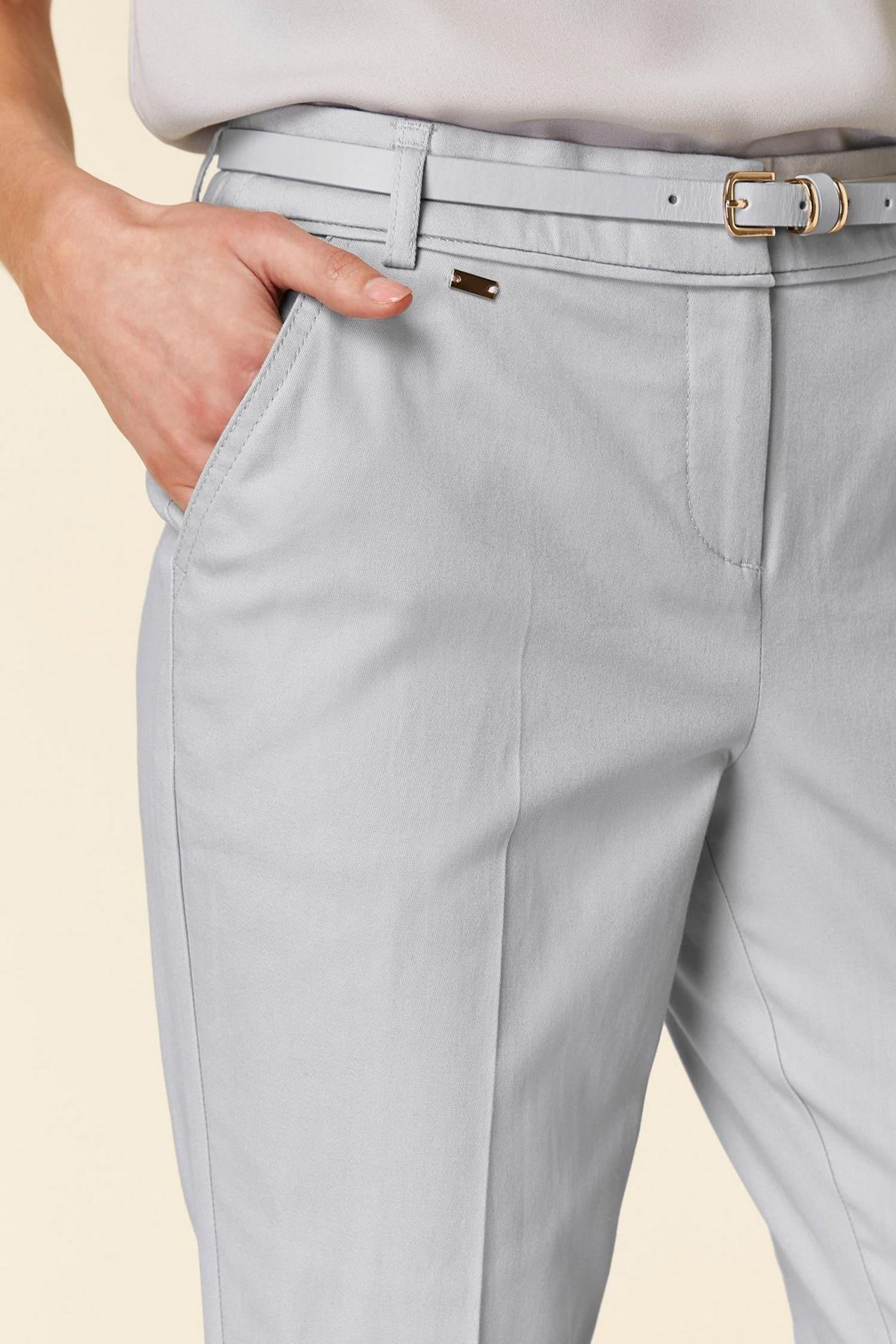 131 Grey Belted Cigarette Trousers image number 3