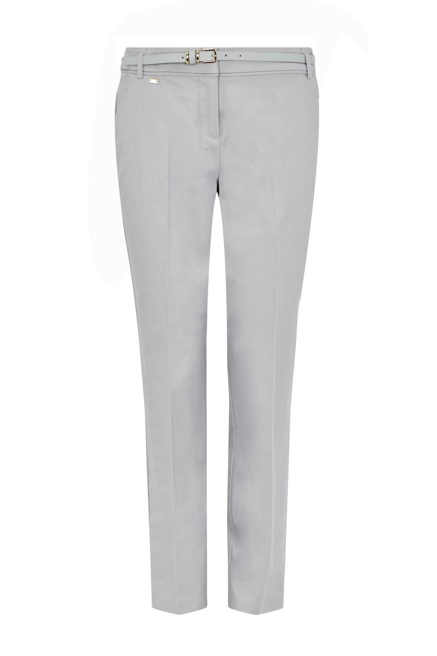 131 Grey Belted Cigarette Trousers image number 4