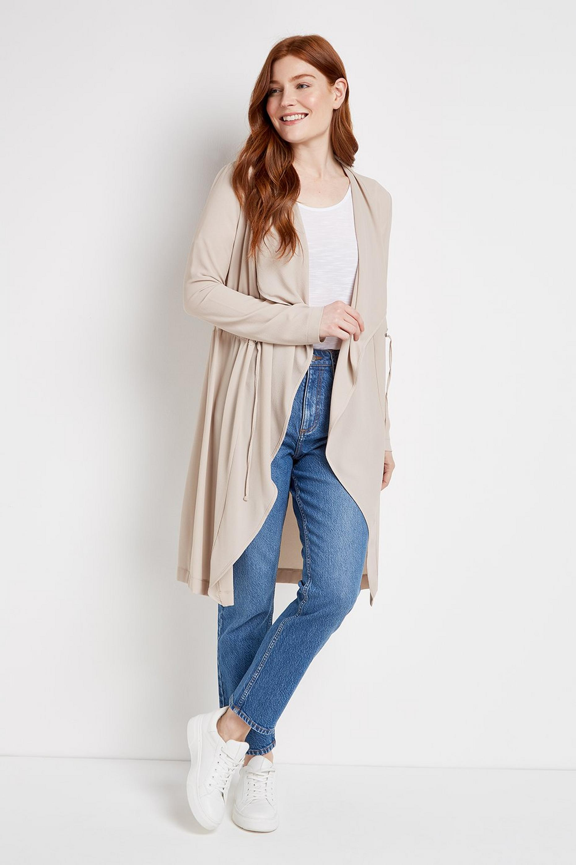 Stone Toggle Waist Duster Jacket