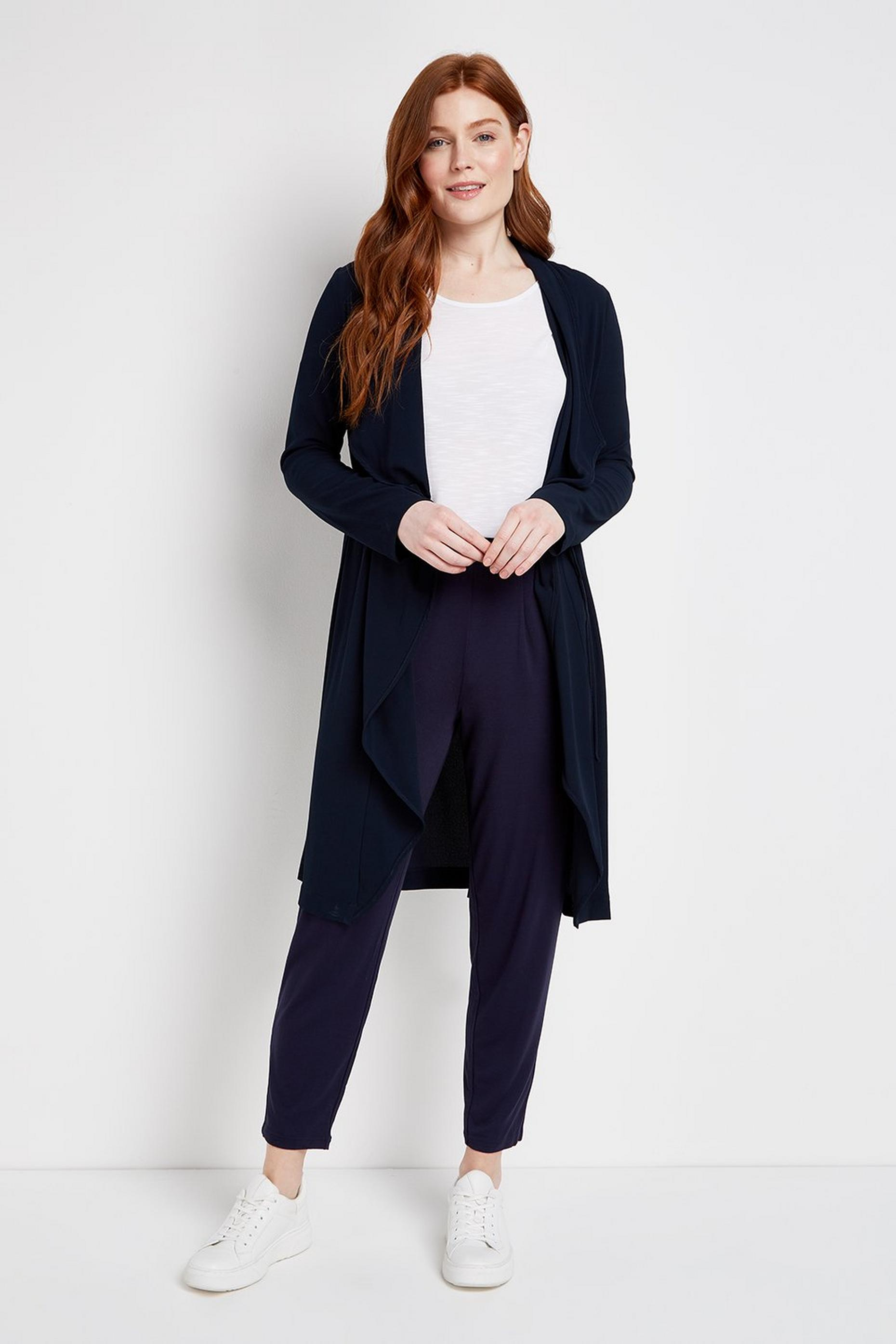 Navy Waterfall Duster Jacket