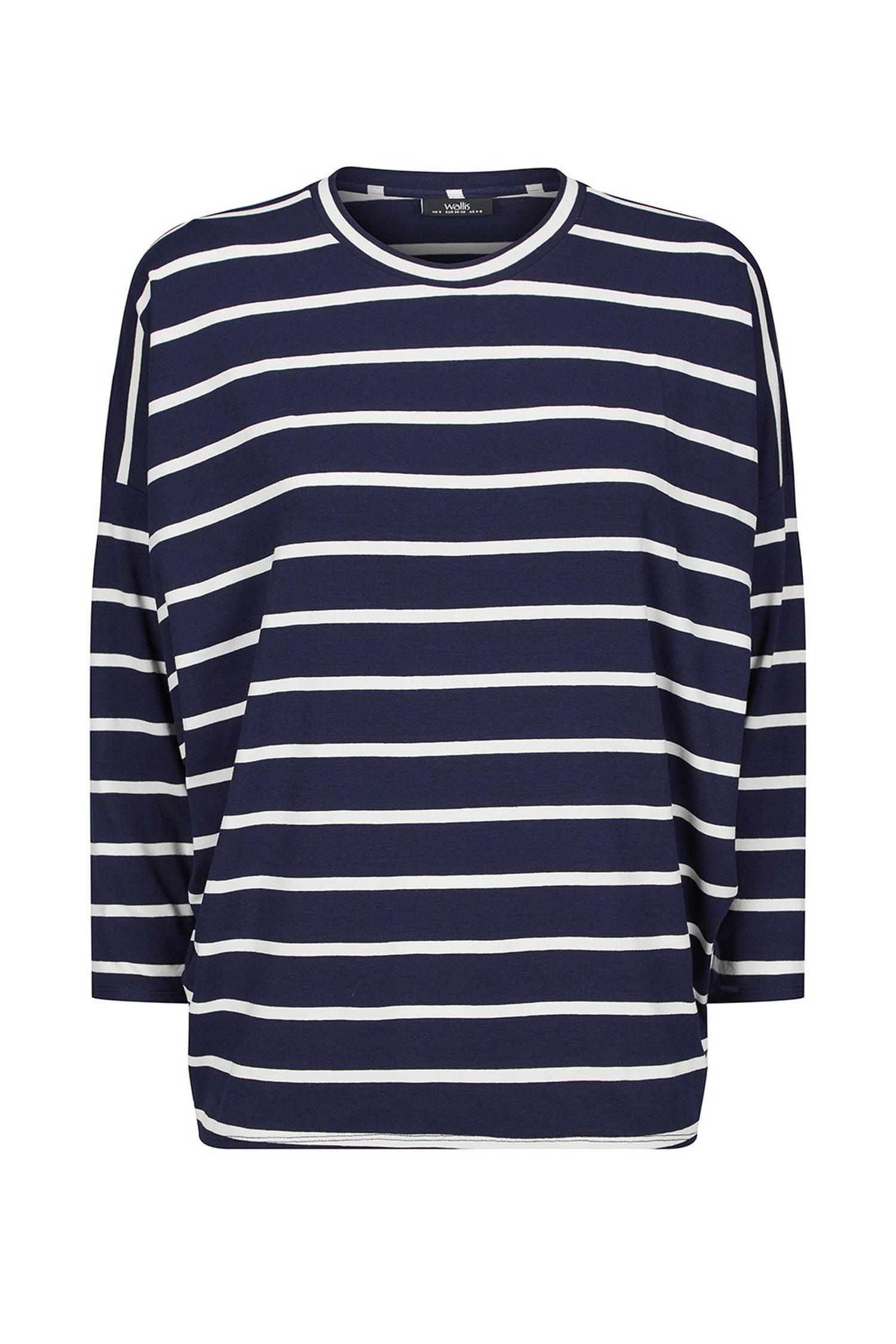 148 Navy Stripe Bawting Top image number 2