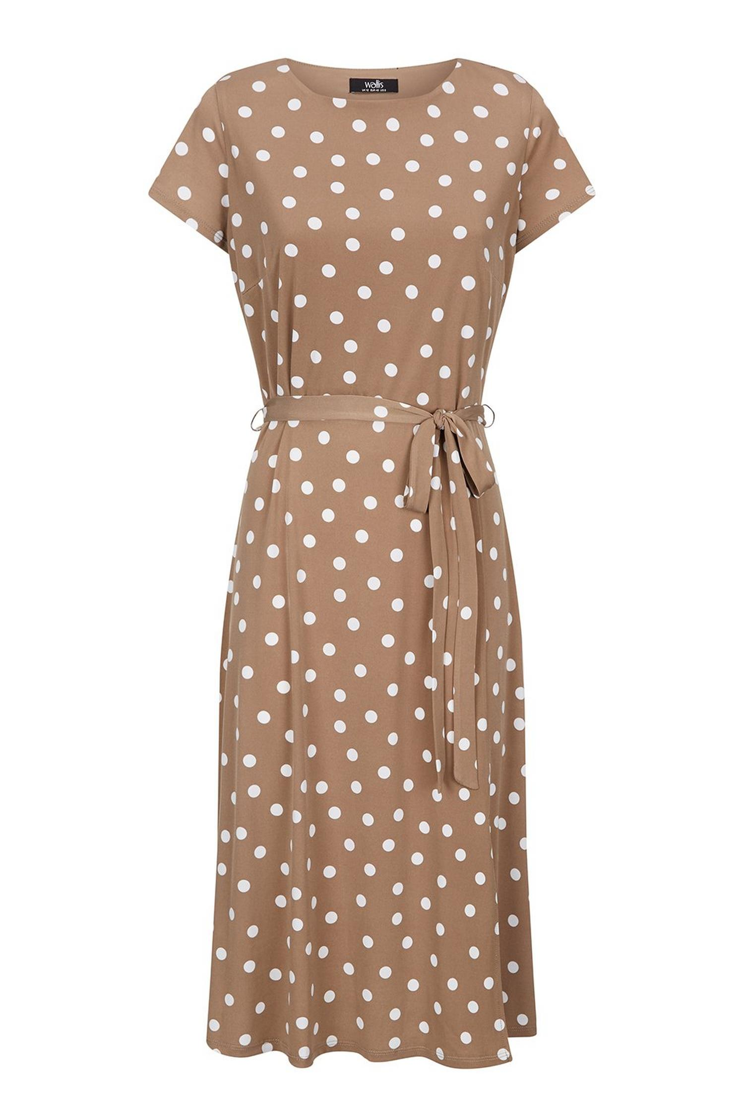 103 Taupe Polka Dot Dress image number 2