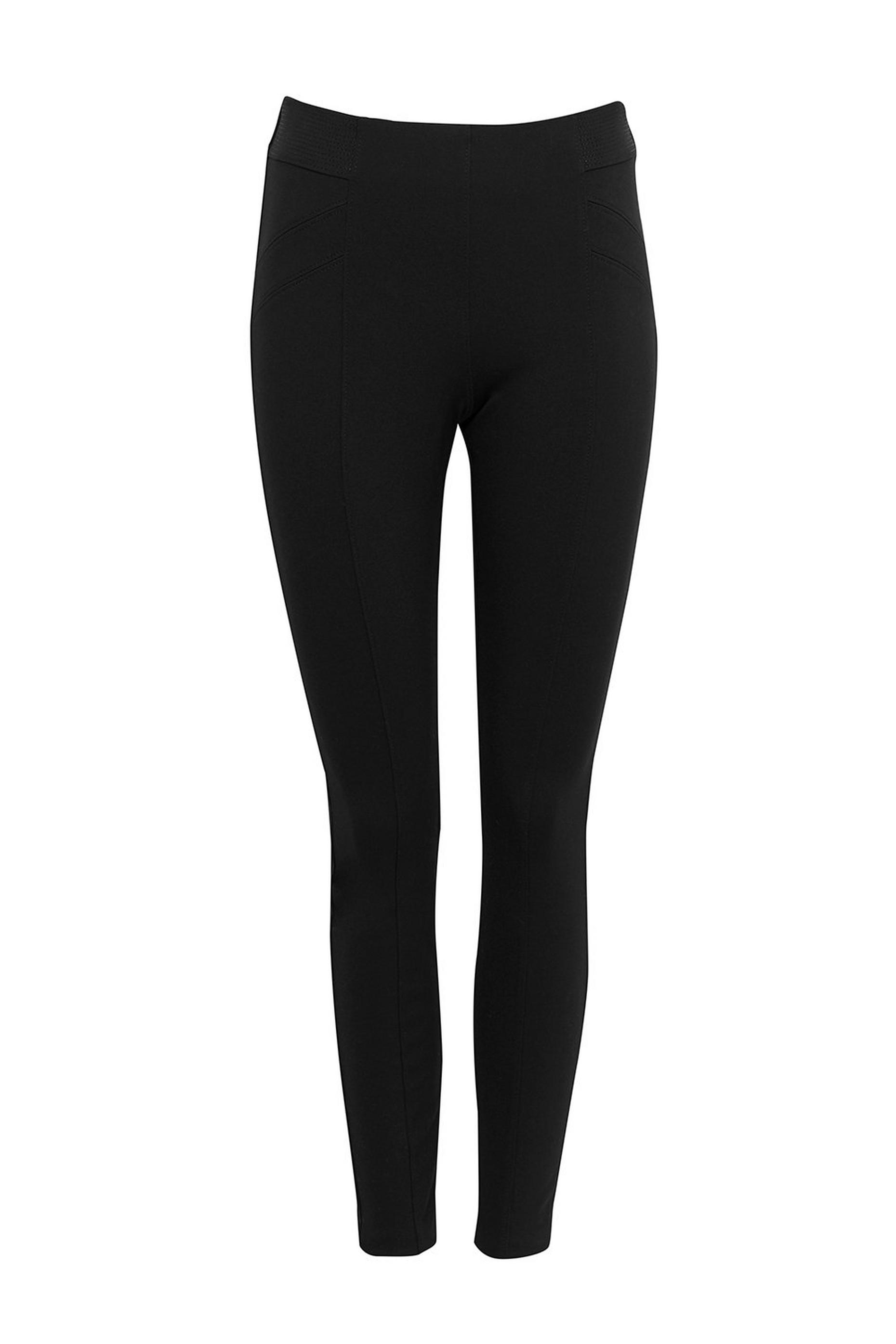 Black Ponte Pull On Legging