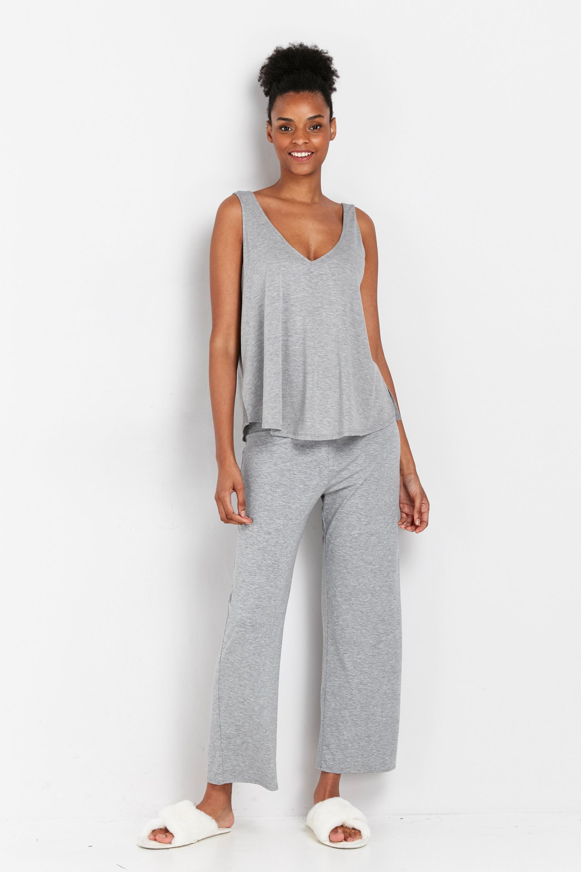 **TALL Grey Jersey Trouser