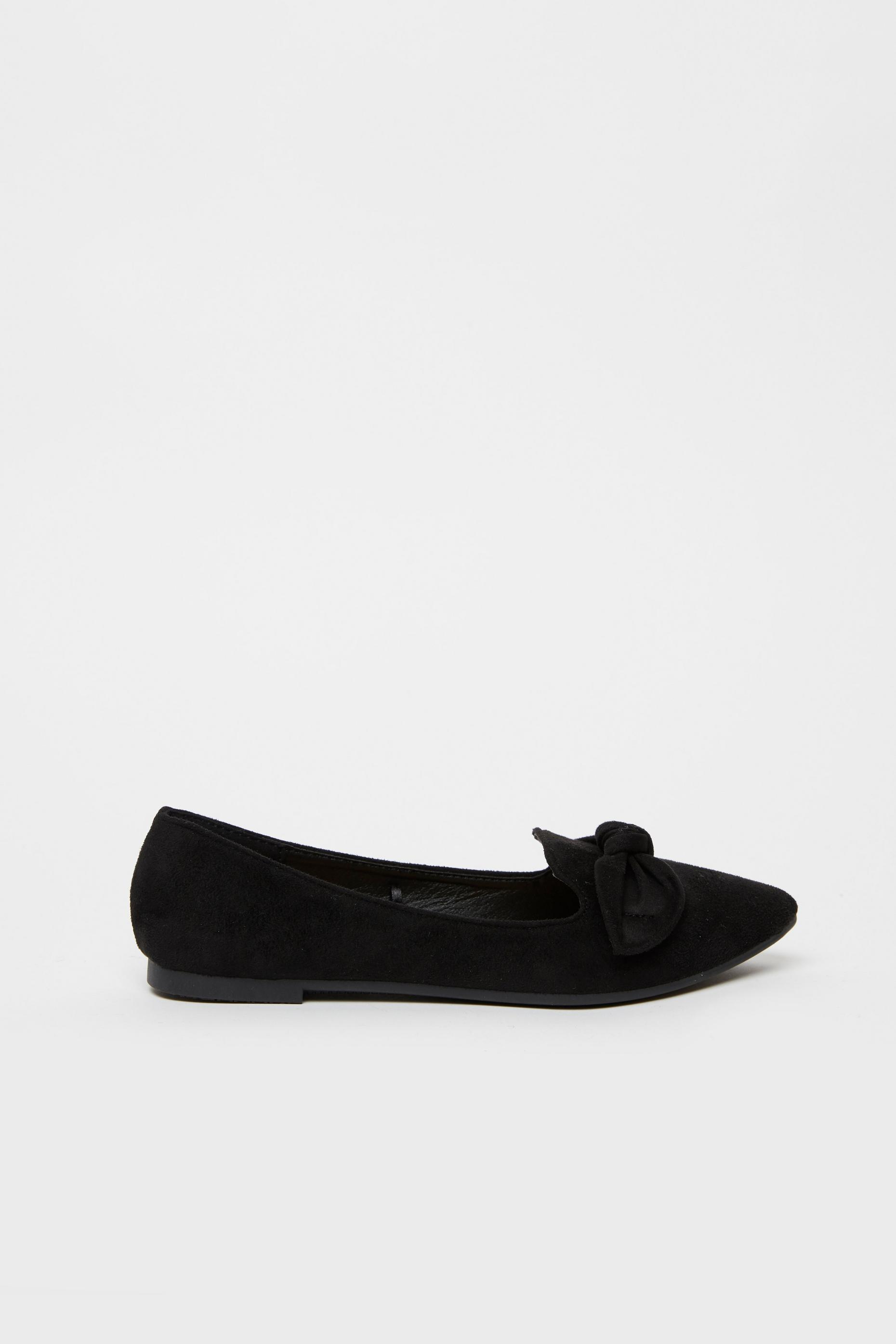 Black Bow Detail Ballet Pump