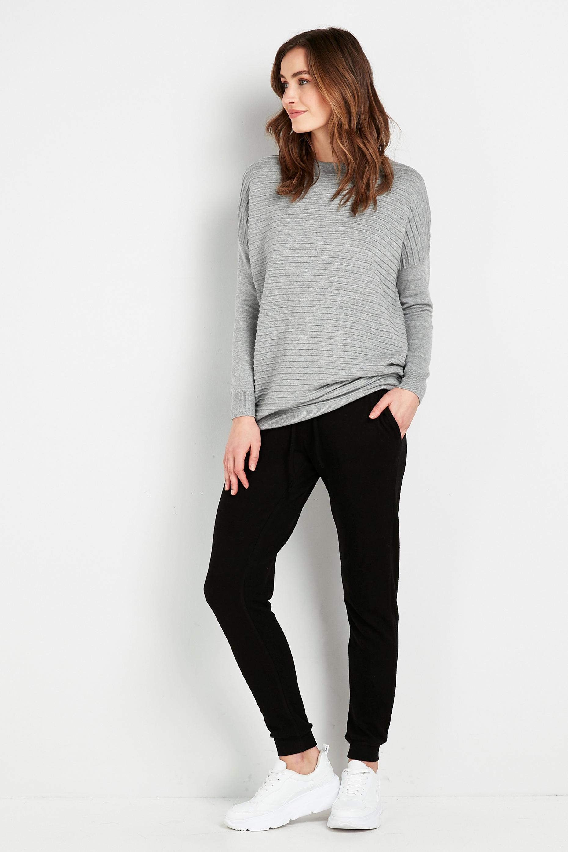 PETITE Black Relaxed Soft Joggers