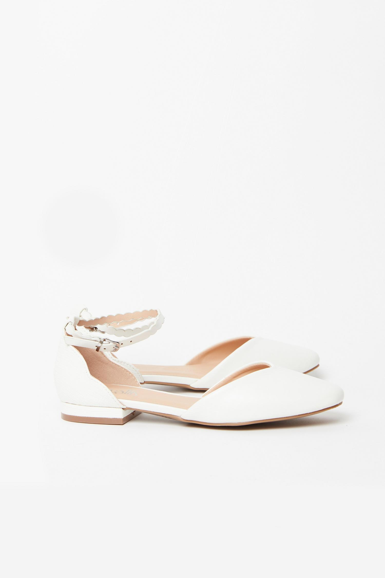 173 White Ankle Strap Shoe image number 1