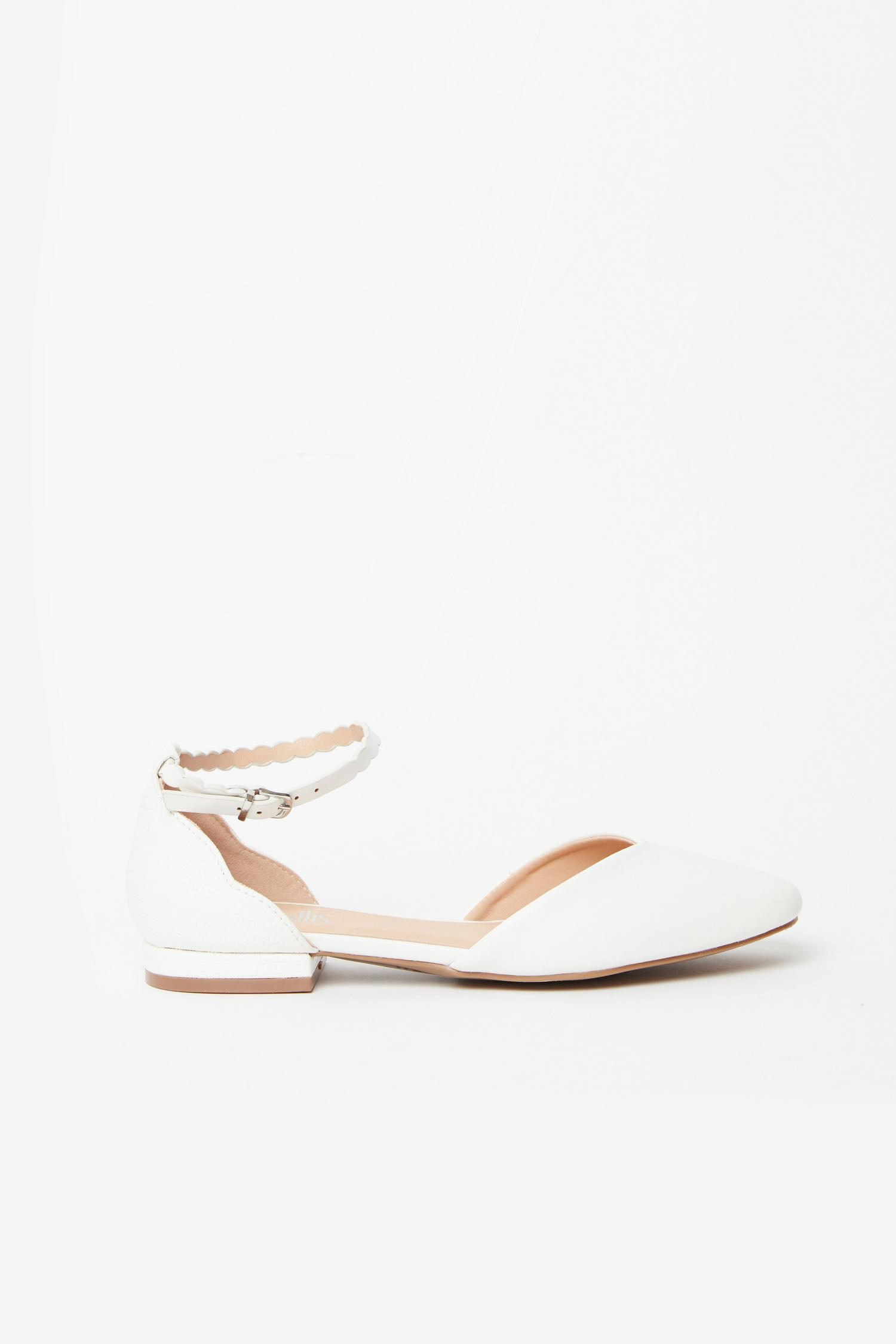 173 White Ankle Strap Shoe image number 2