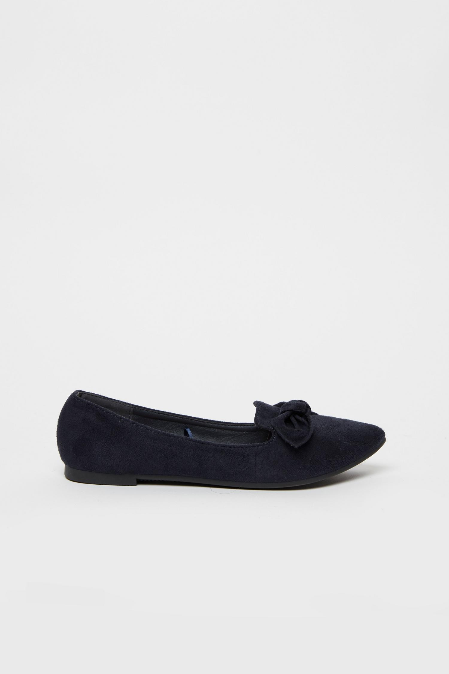 148 Navy Bow Detail Ballet Pump image number 1