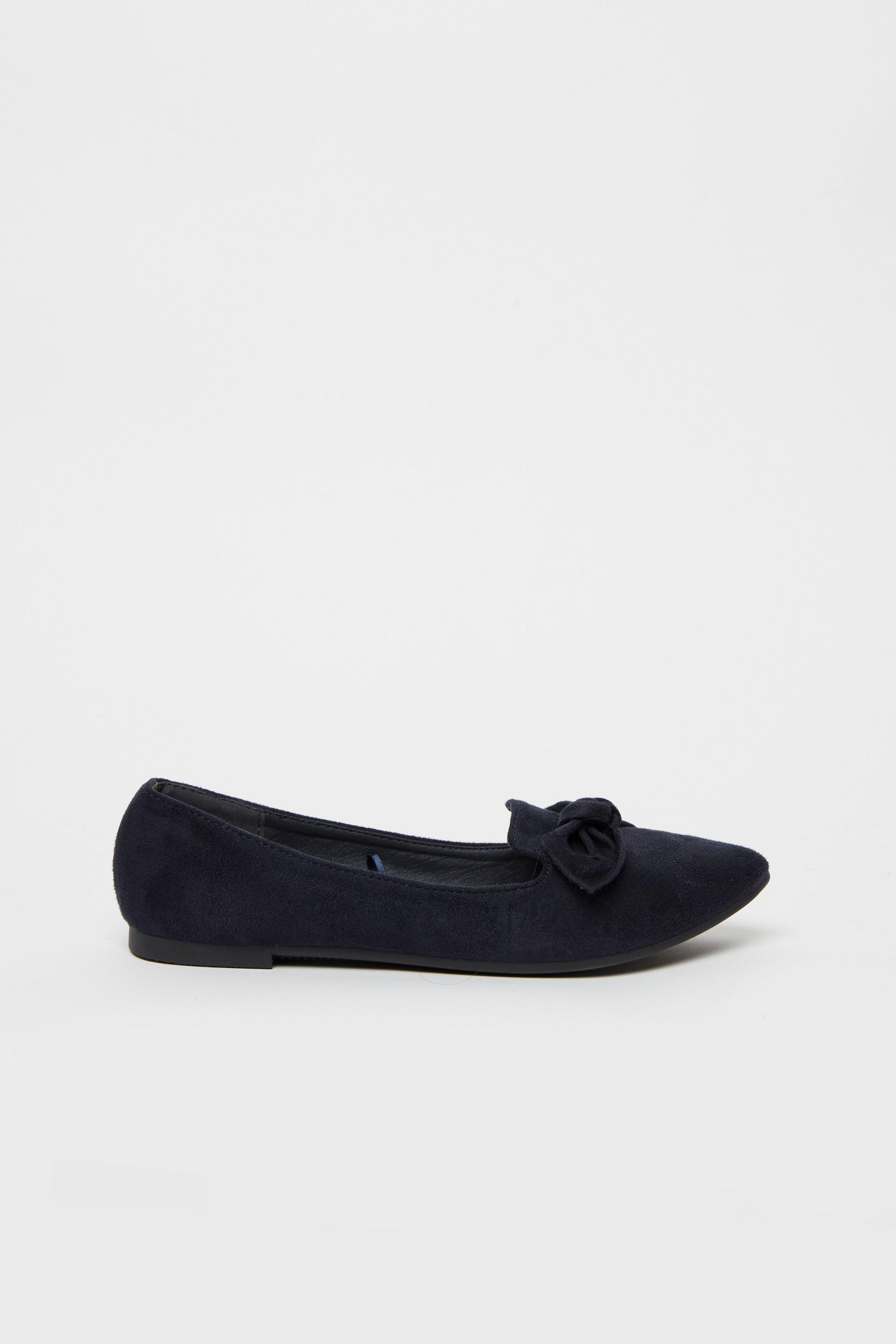 Navy Bow Detail Ballet Pump