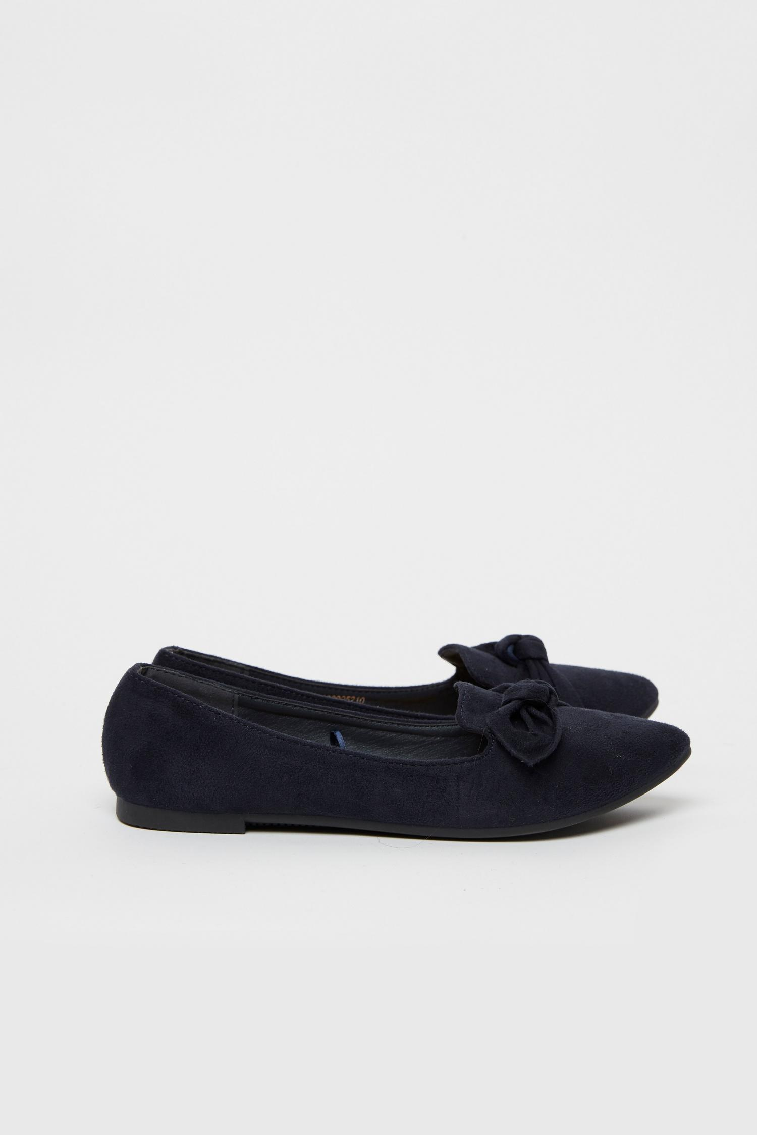 148 Navy Bow Detail Ballet Pump image number 2