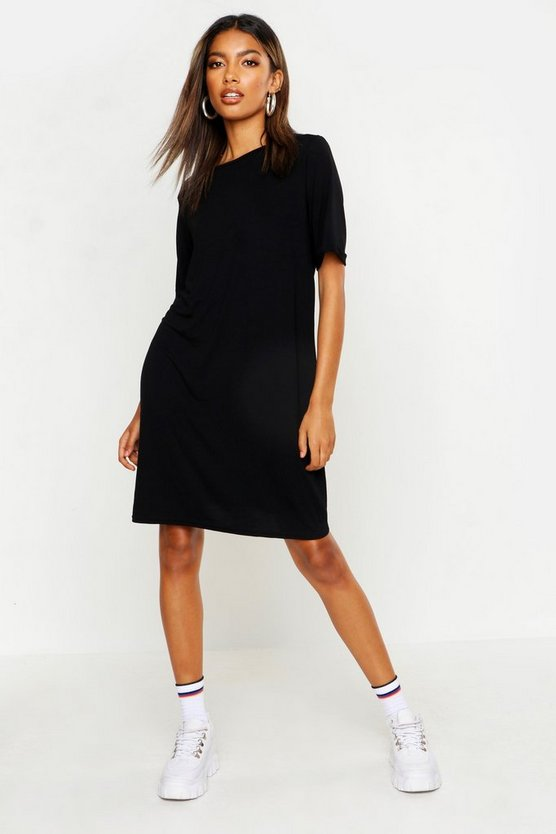 Turn Back Cuff T-Shirt Dress