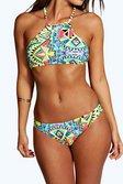 9953515c5f ... Boutique Geo Halter Crop Bikini alternative image