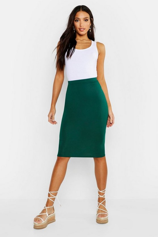 Bottle Basic Jersey Midi Skirt