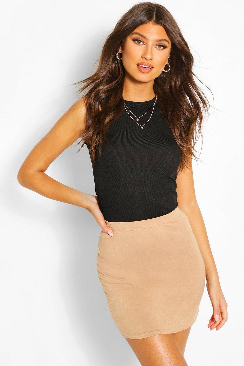 e65373821 Basic Jersey Mini Skirt   Boohoo